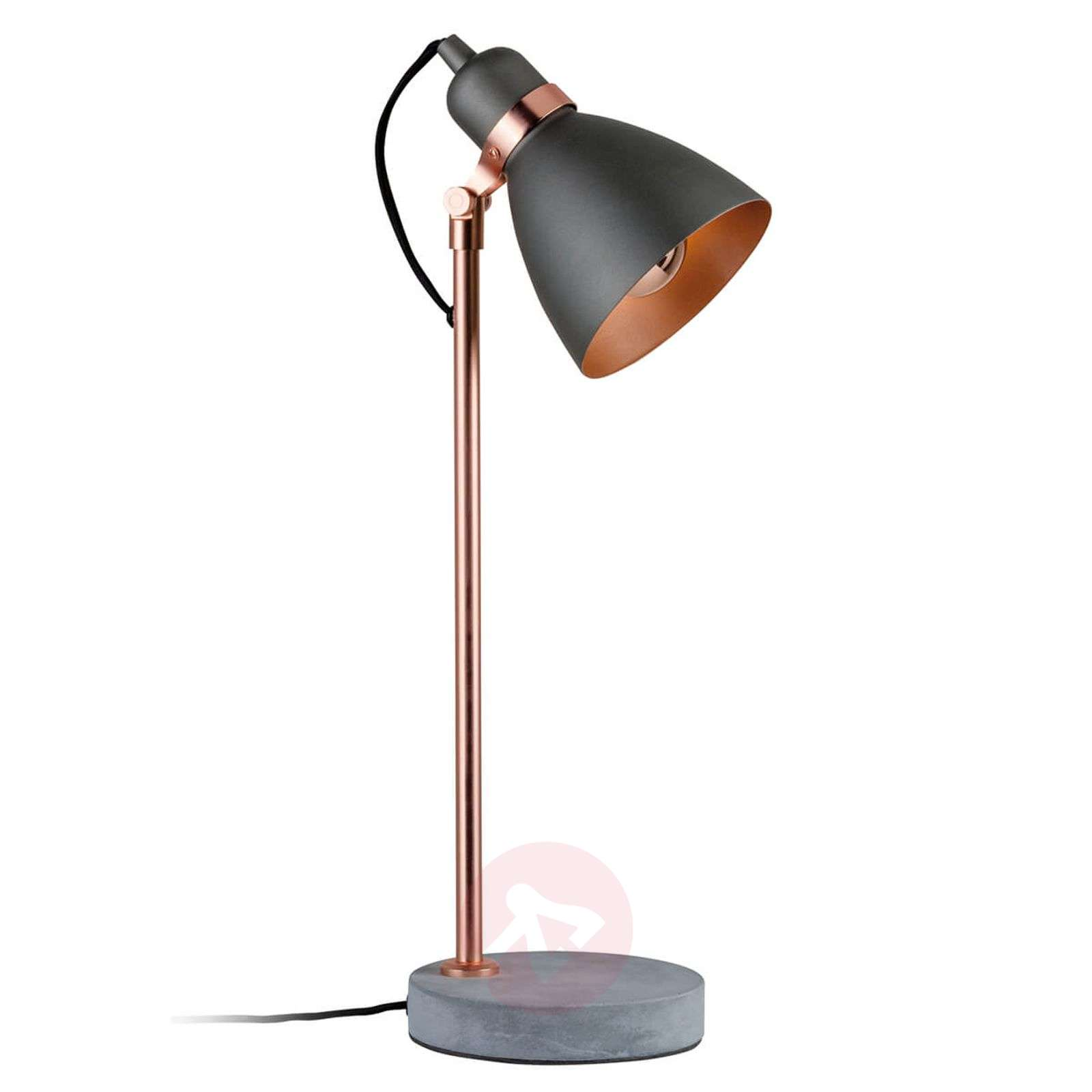Modern table lamp Orm with concrete base-7601037-01