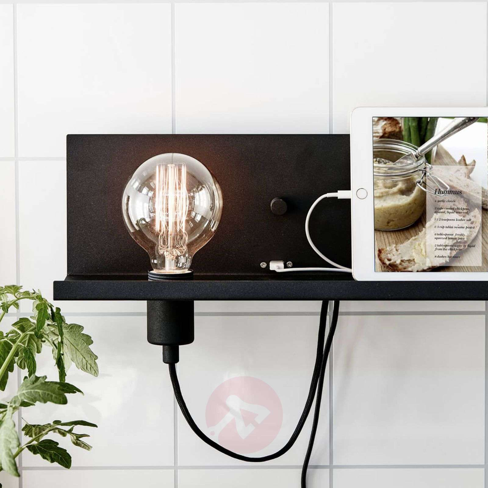 Modern wall light Multi-USB with charging station-6505632-012