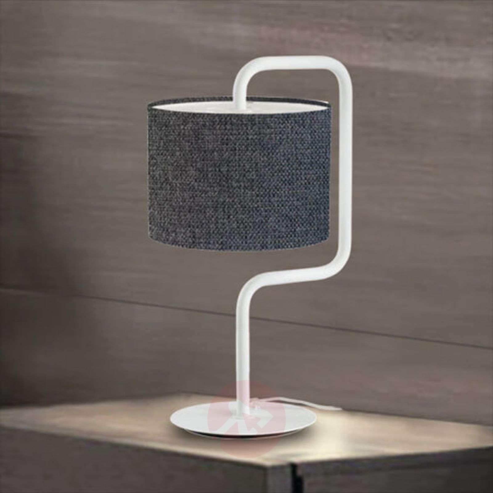 Sierstrip Chroom Badkamer : Morfeo fabric table lamp in anthracite lights.ie