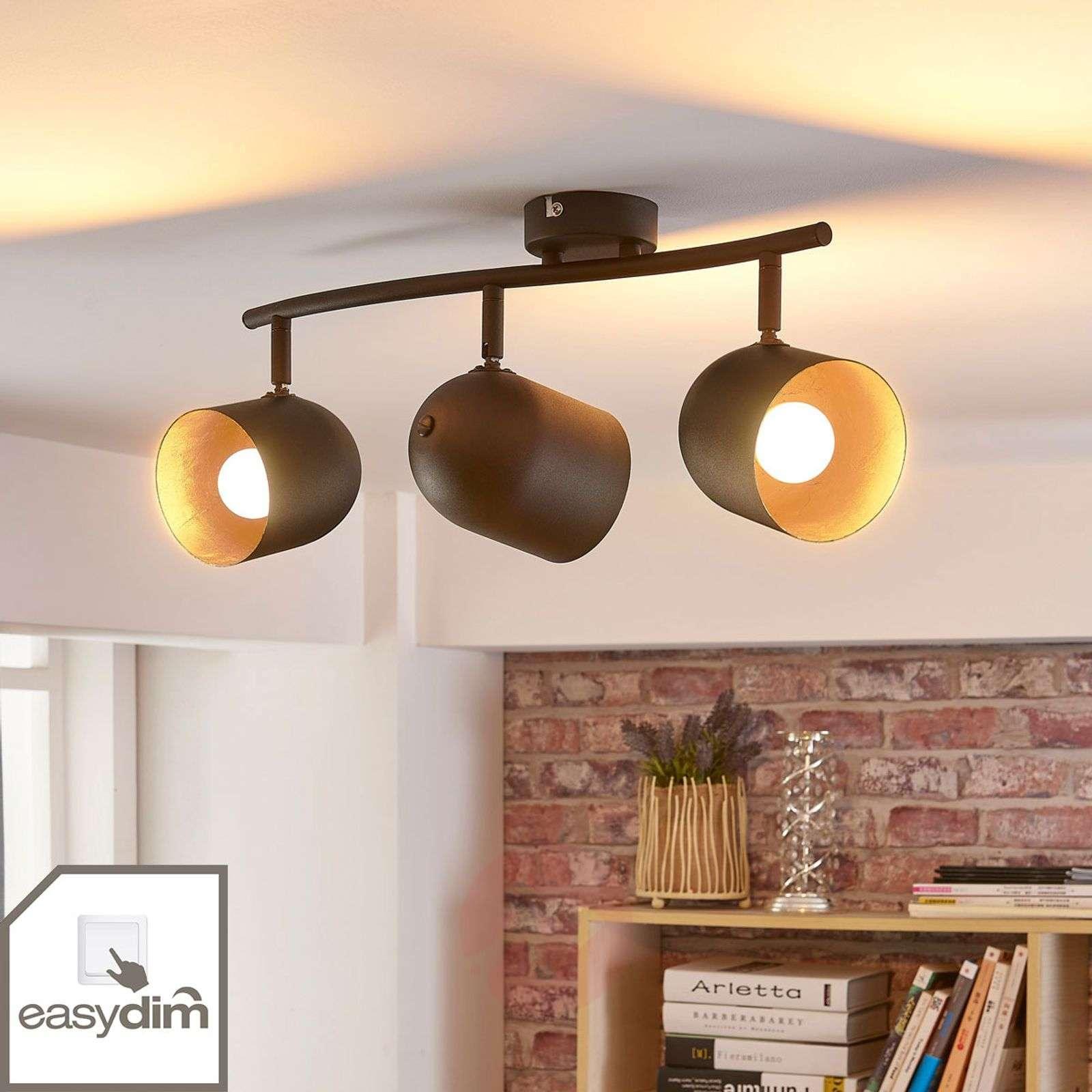 Morik 3-bulb ceiling spotlight, Easydim LEDs-9621240-02