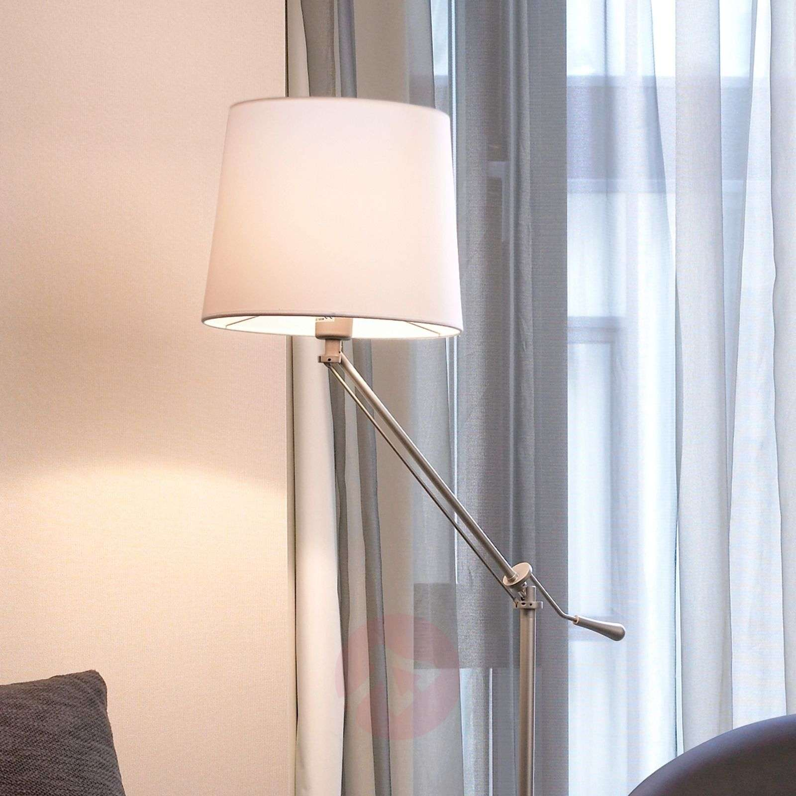 Moving floor lamp Milan with cotton lampshade-6026328-02