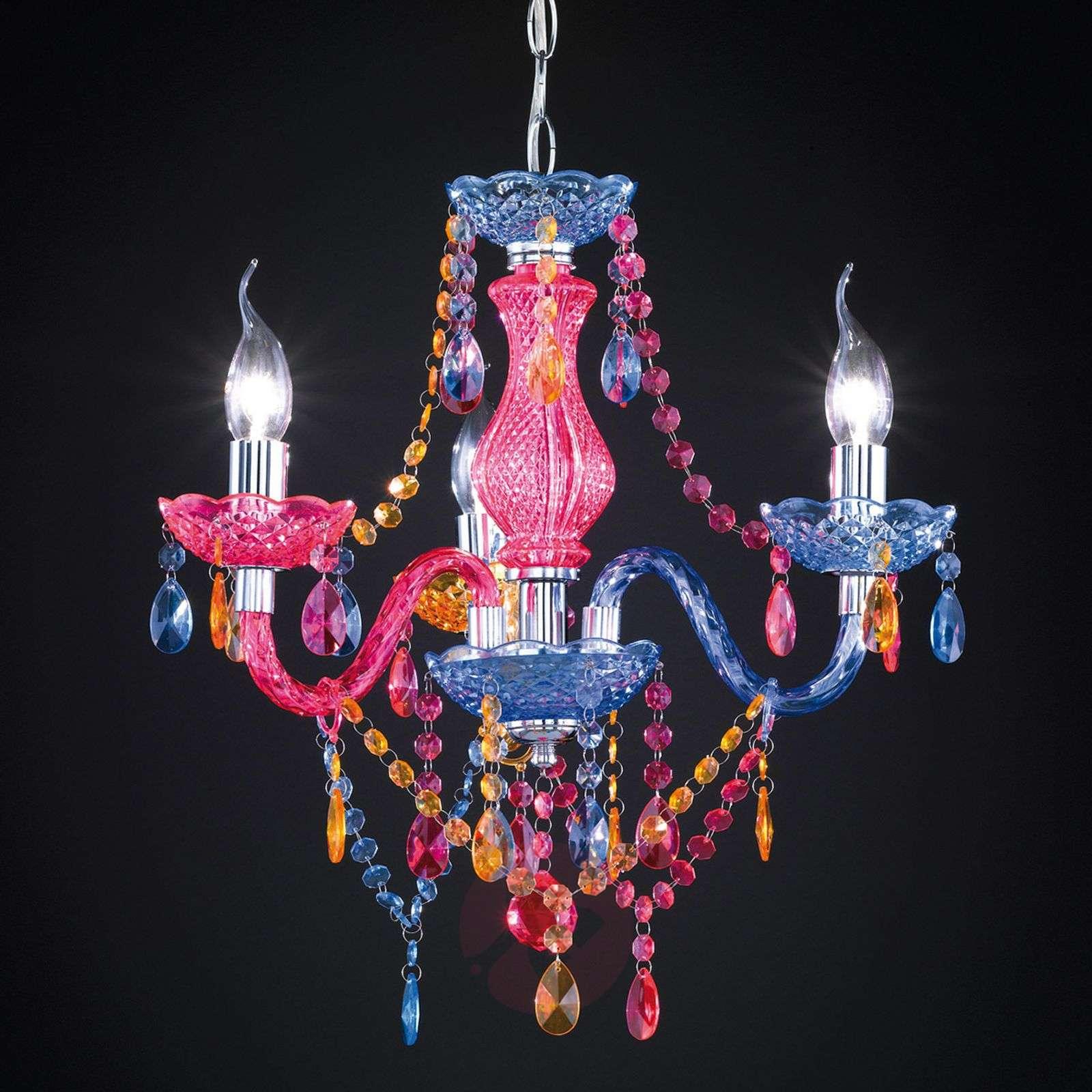 Multi-col. Perdita chandelier with acrylic deco-8029051-01