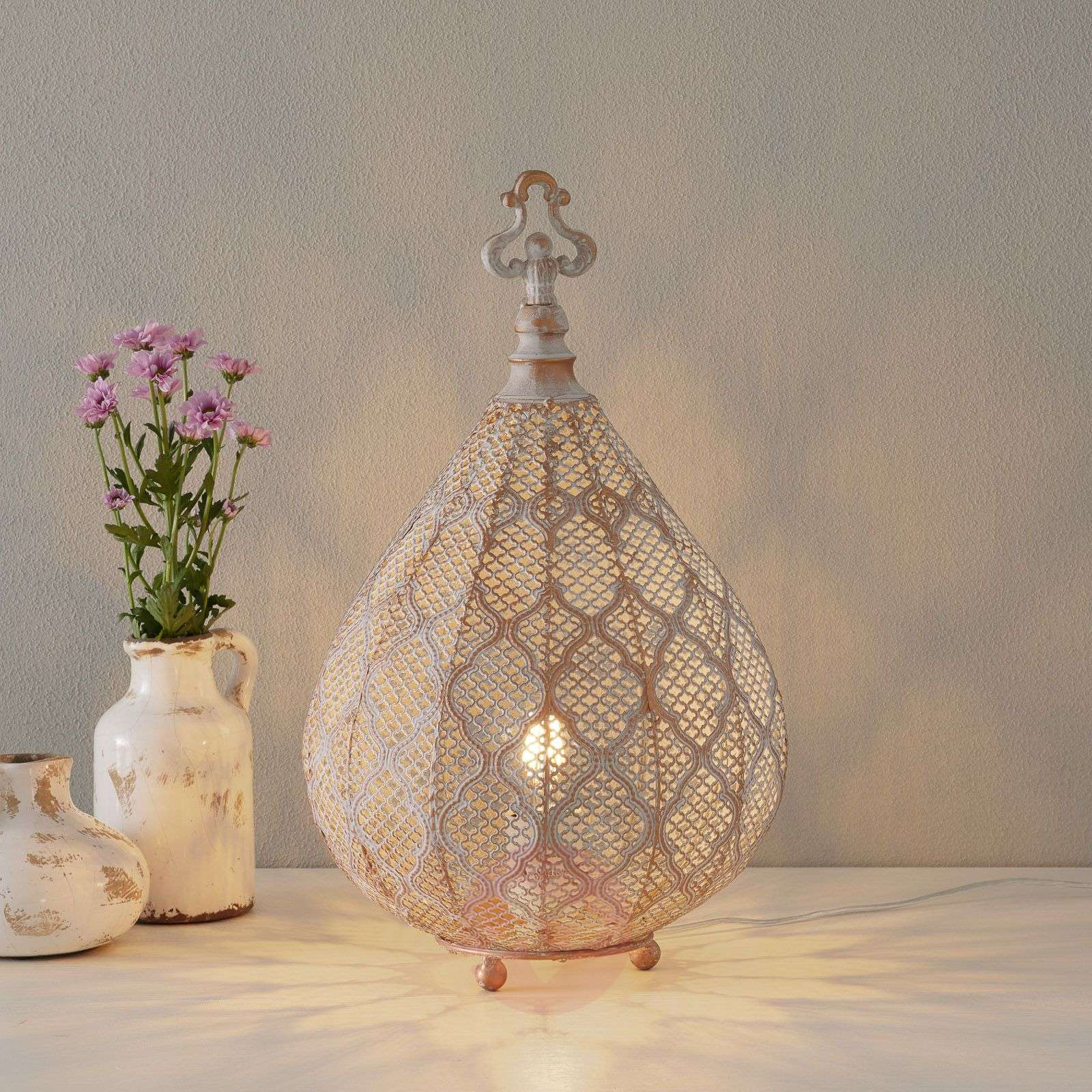 Nabila LED table lamp with an oriental design-8582364-01