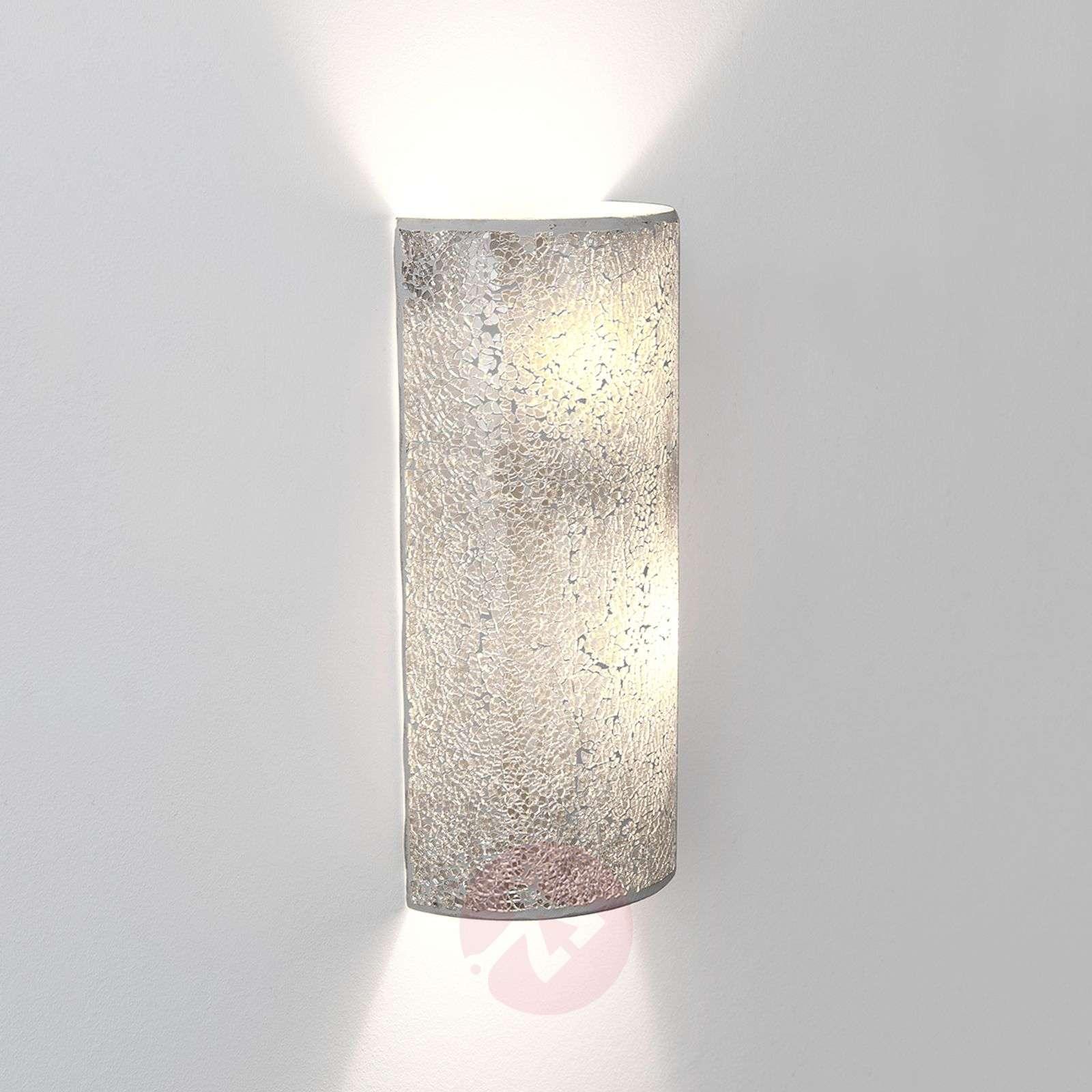 Narziso silver wall light made of glass mosaic-4512508-01
