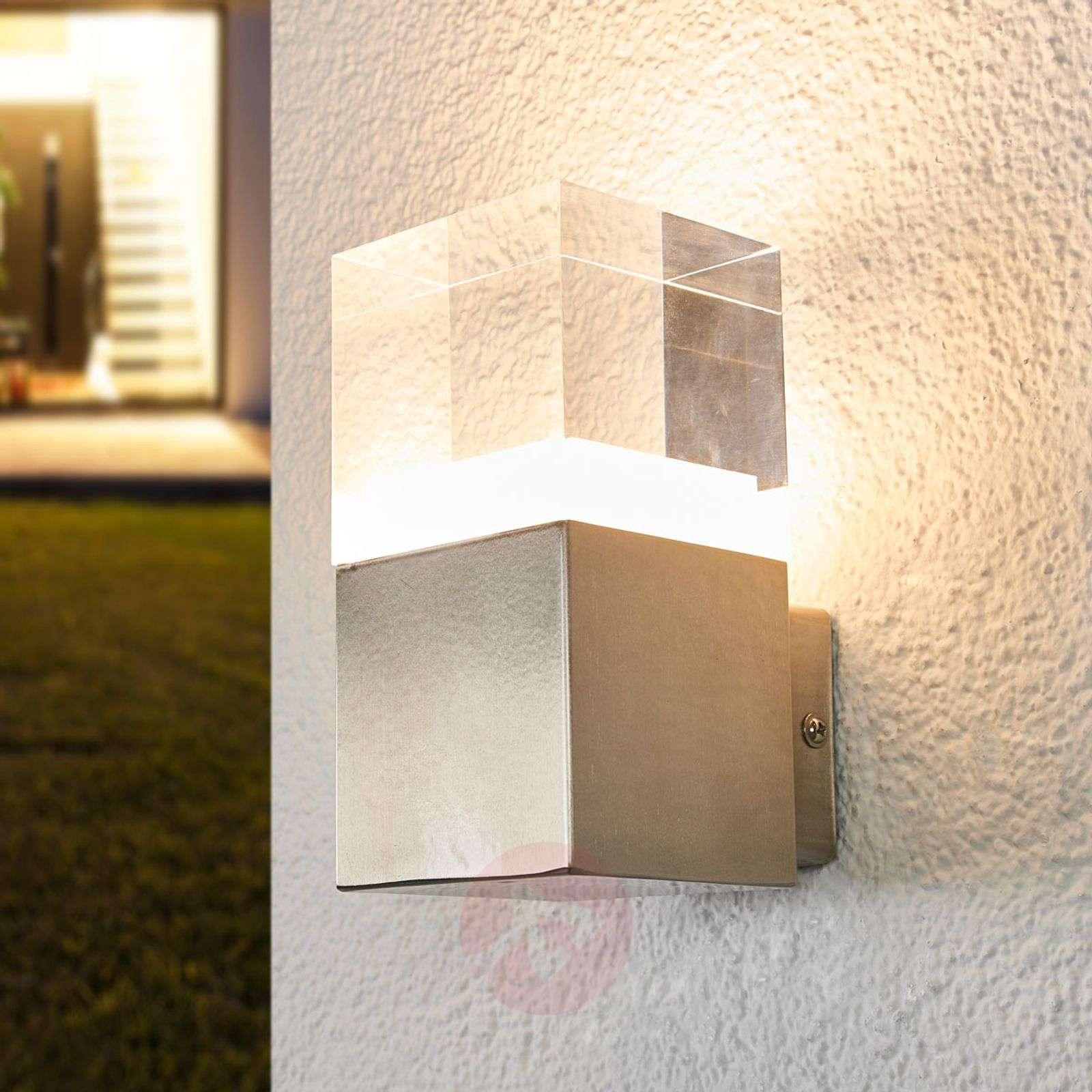 Sierstrip Chroom Badkamer : Nerius stainless steel led outdoor wall light lights.ie