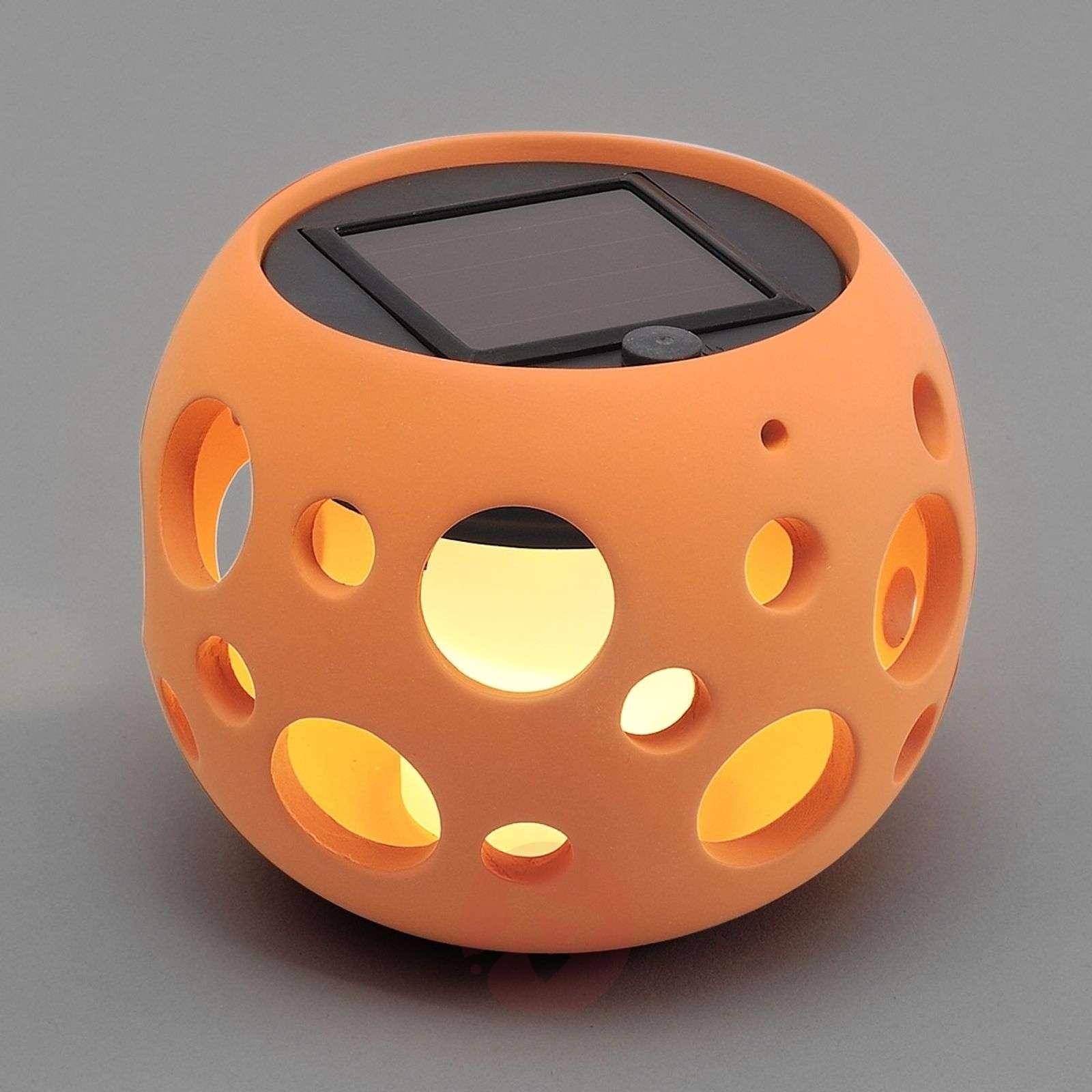 New Genova LED solar light, sphere, terracotta-5522261-01