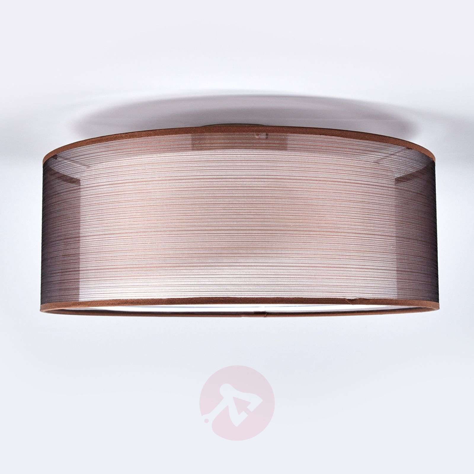 Nica brown fabric ceiling light-4018002-02