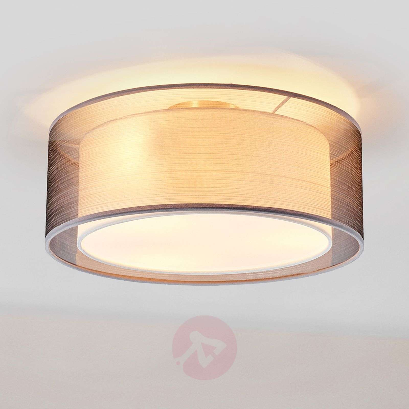 Nica fabric ceiling light in grey-4018001-02
