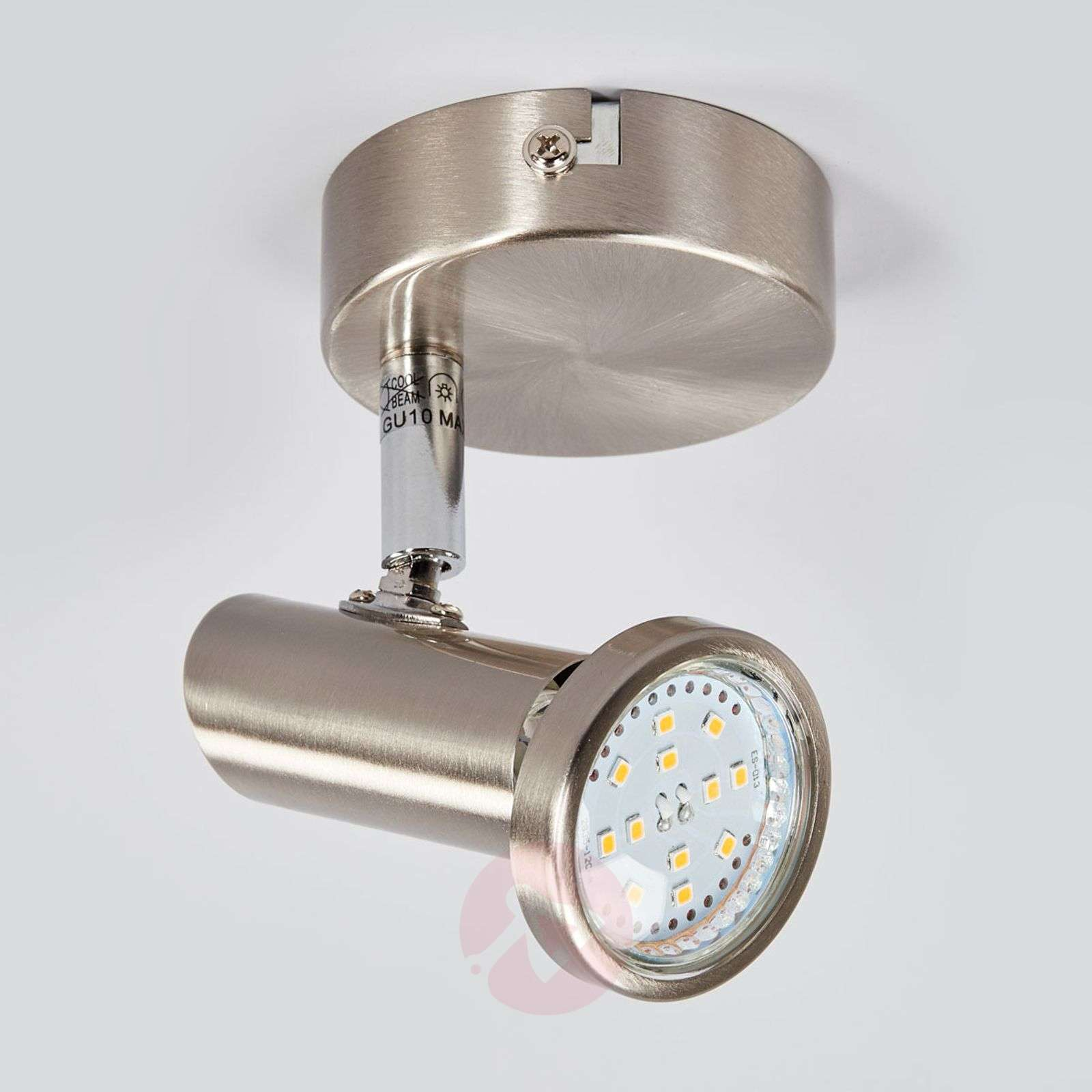 Nickel-coloured LED wall spotlight Cosma-9970069-01
