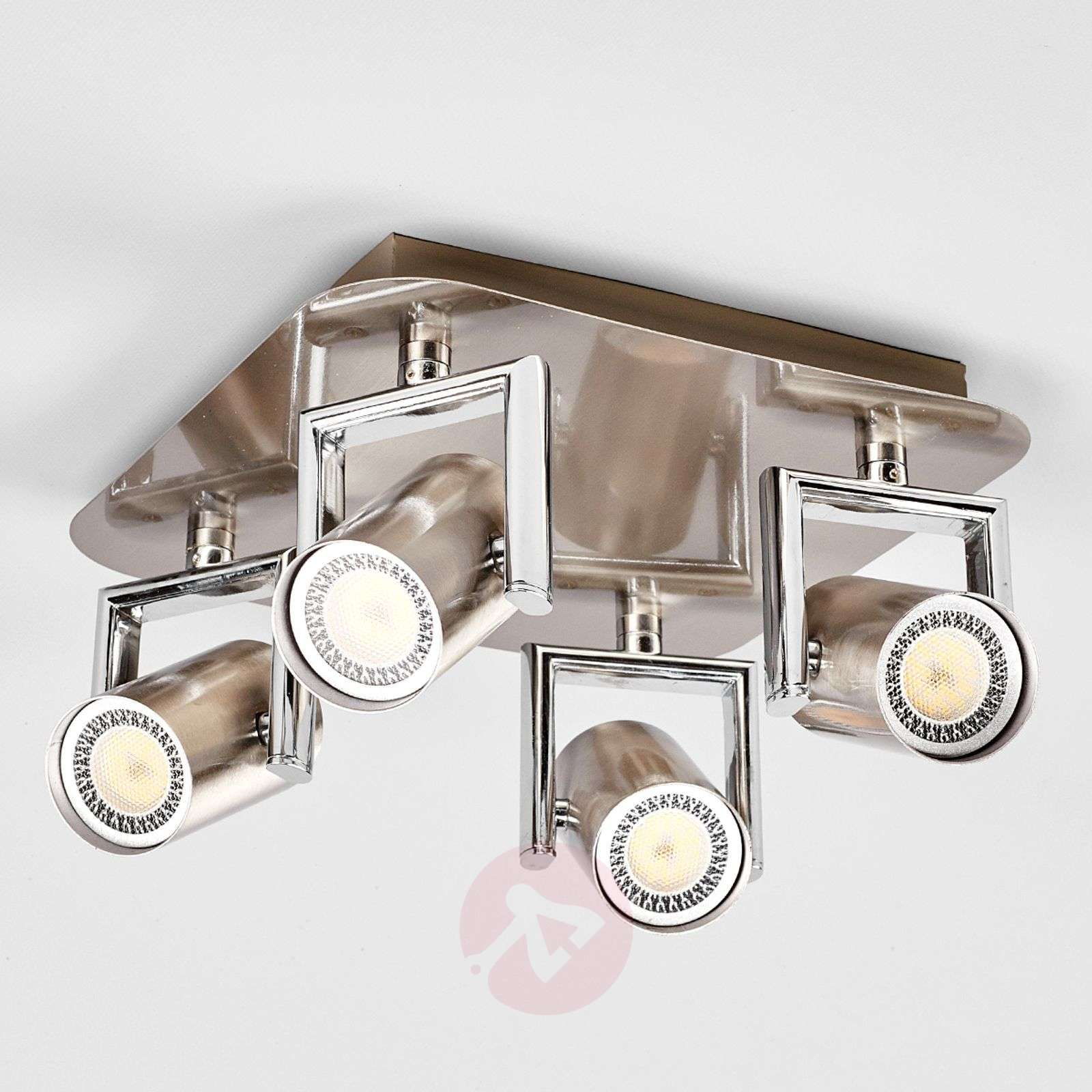 Nickel Luciana LED kitchen spotlight, 4-fl.-9975027-01