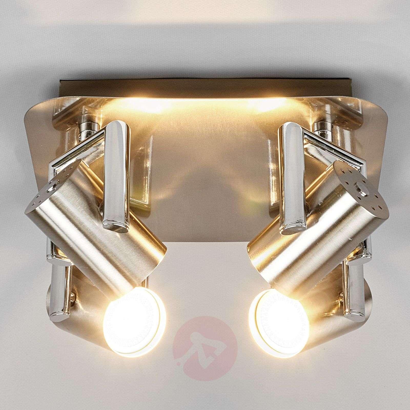 Nickel Luciana LED kitchen spotlight, 4-fl.-9975027-01