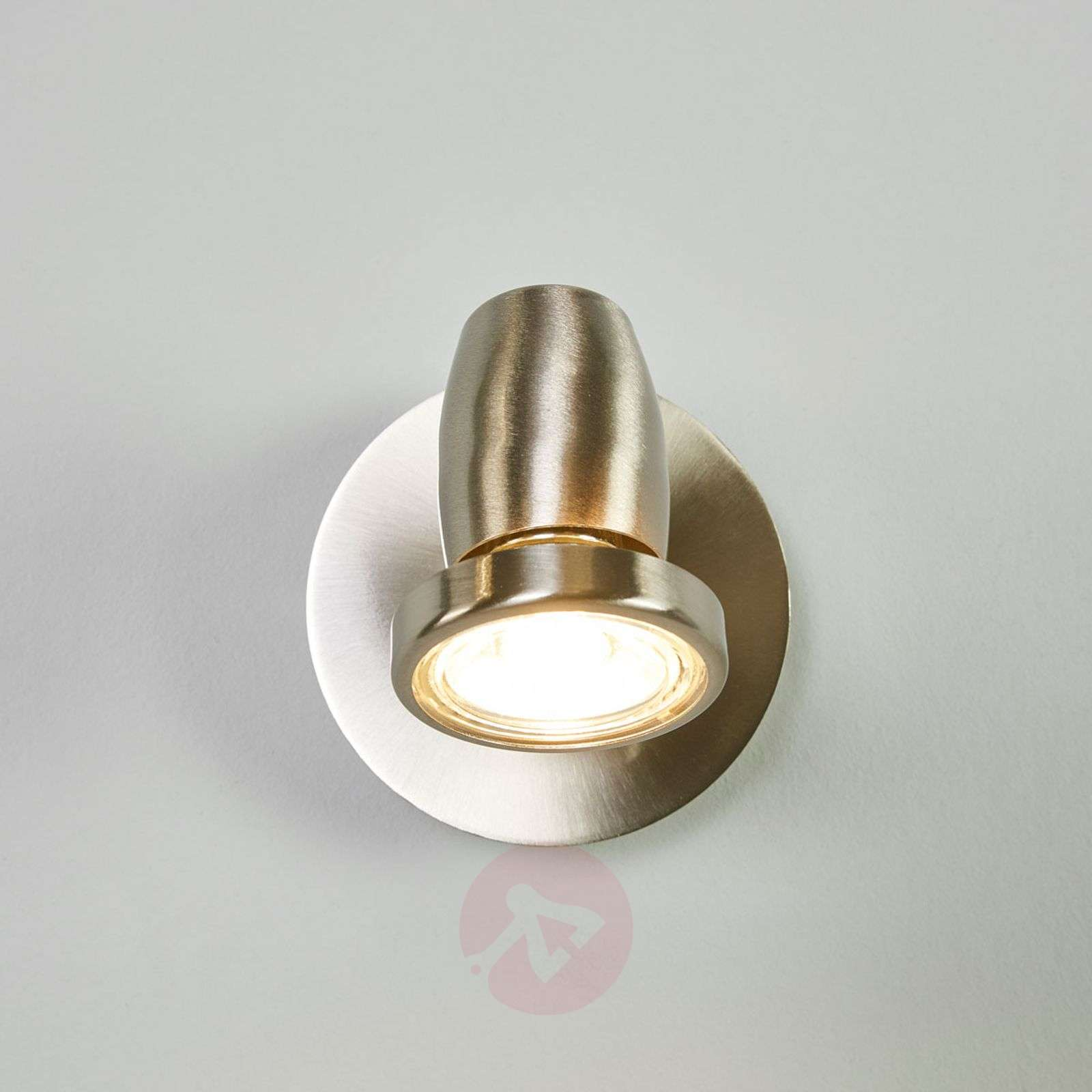 Nickel-plated LED wall spotlight Celestine-9954017-02