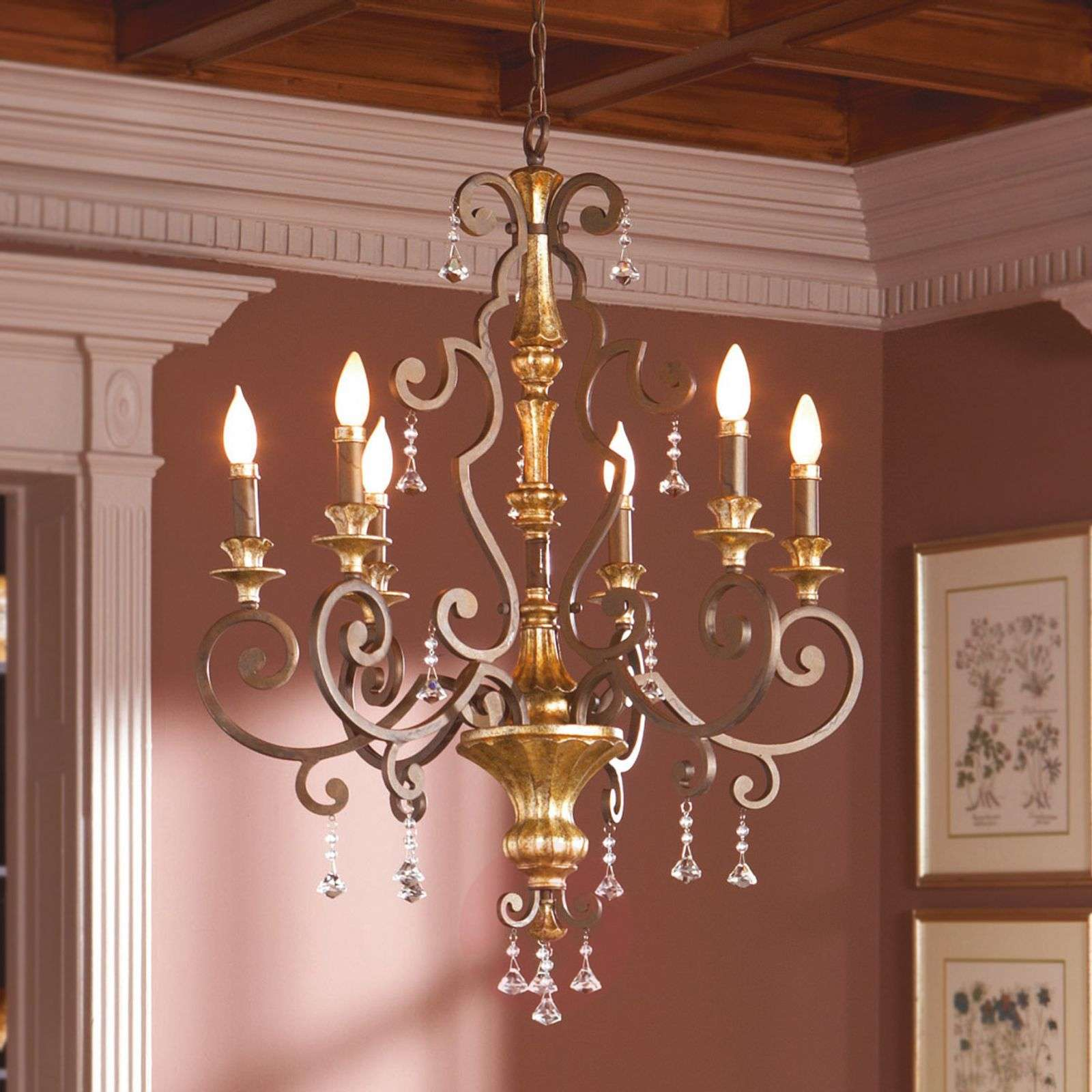 Noble chandelier Marquette with crystal ornaments-3048309-01
