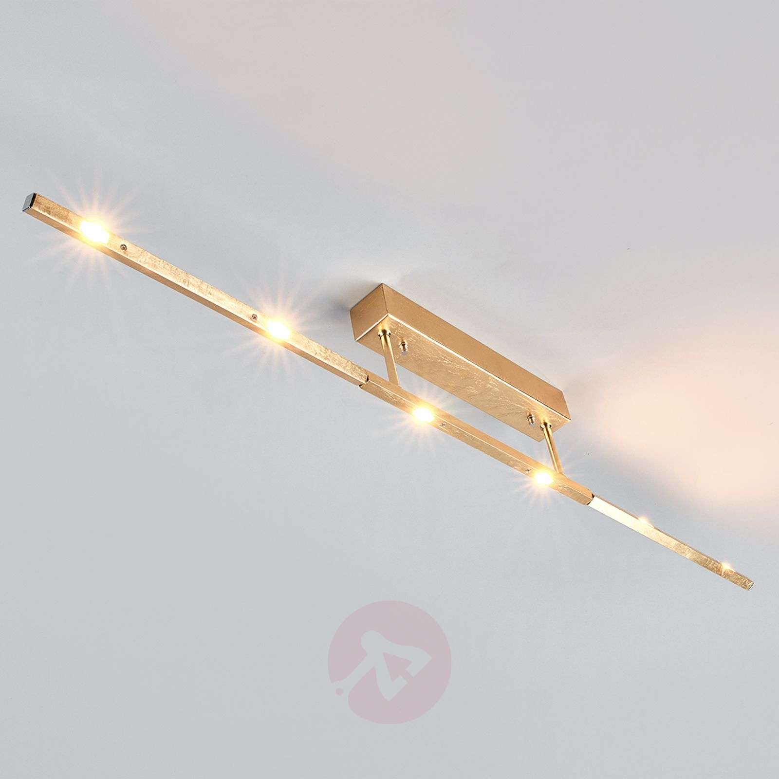 Noble LED ceiling lamp Tolu, antique gold finish-6722291-01