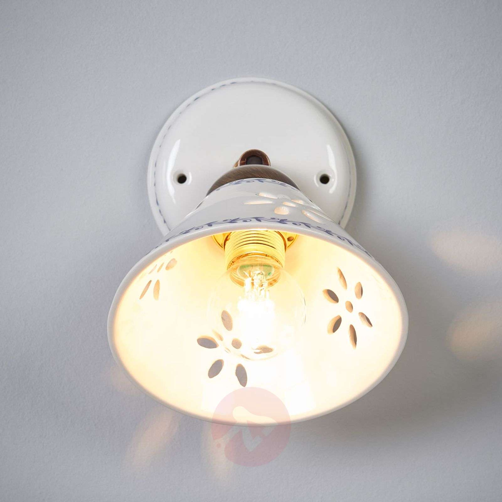 NONNA wall light, made of white ceramic-2013025-01