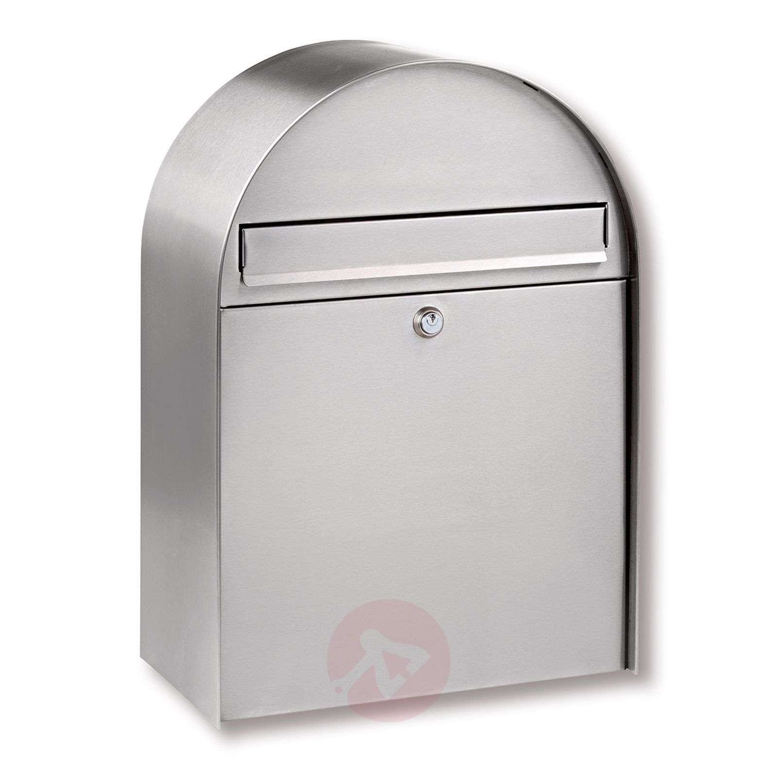 Nordic stainless steel letter box with curved form-1532134-01