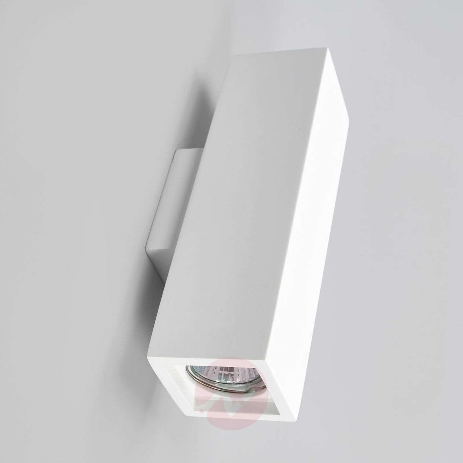 Norwin 2-bulb rectangular plaster wall light-9613040-02