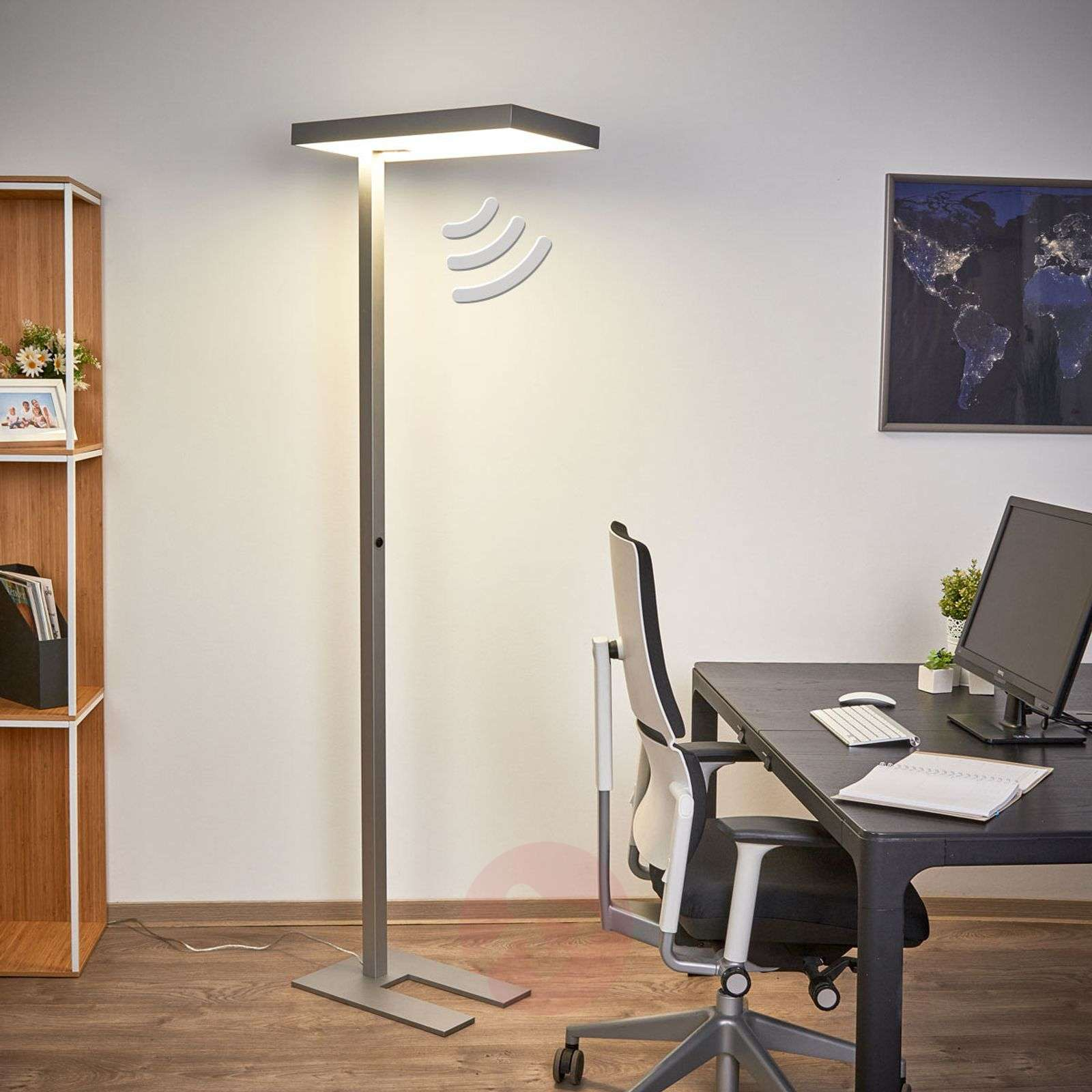 ... Office LED Floor Lamp Nora With Motion Detector 9966006 02 ...