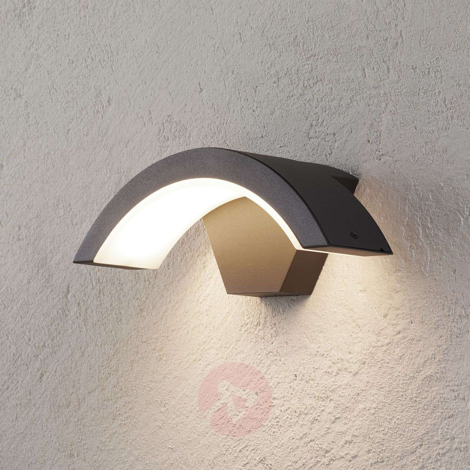 Ohio LED outdoor wall light, anthracite-9004662-01