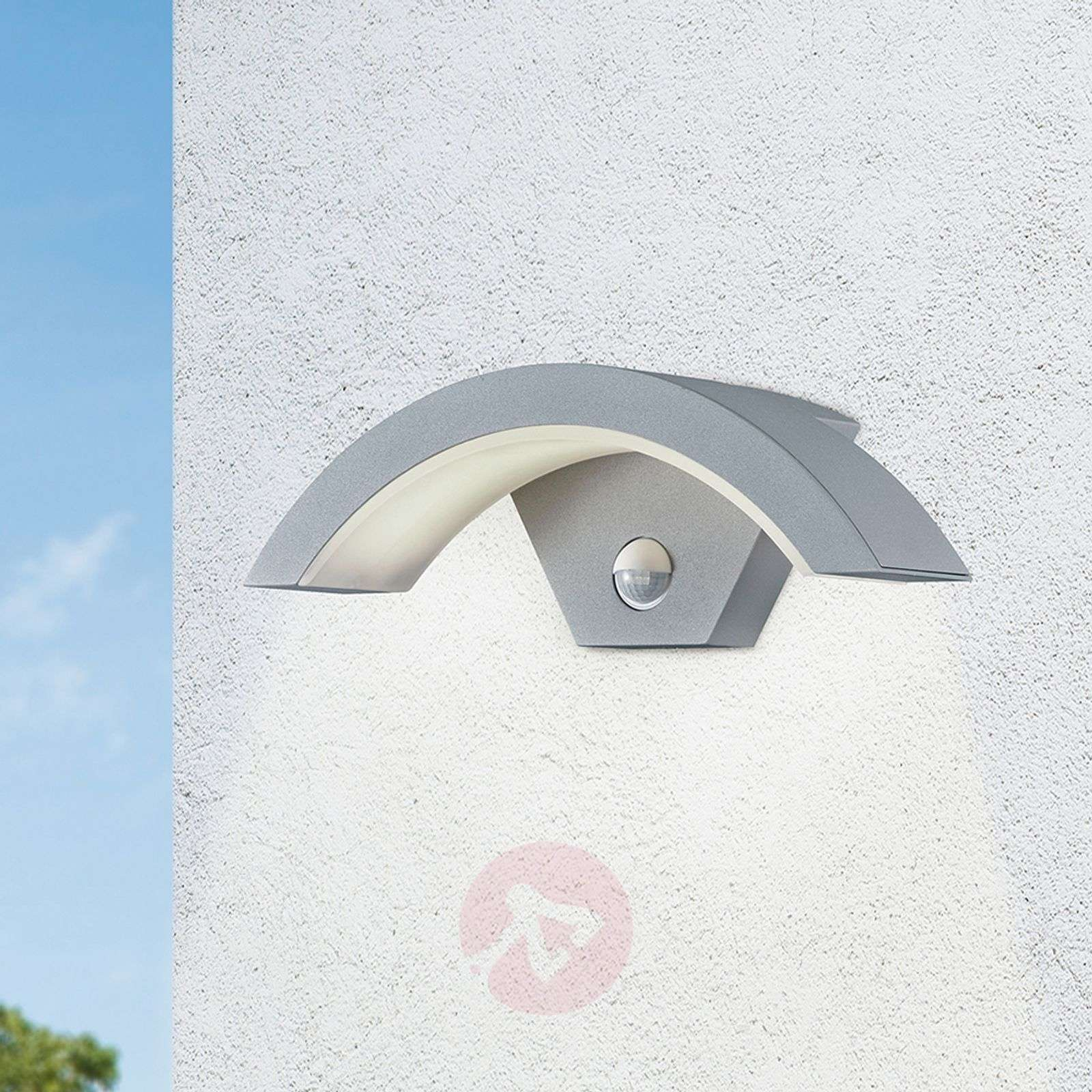 Ohio LED outdoor wall light, sensor, titanium col.-9004659-02