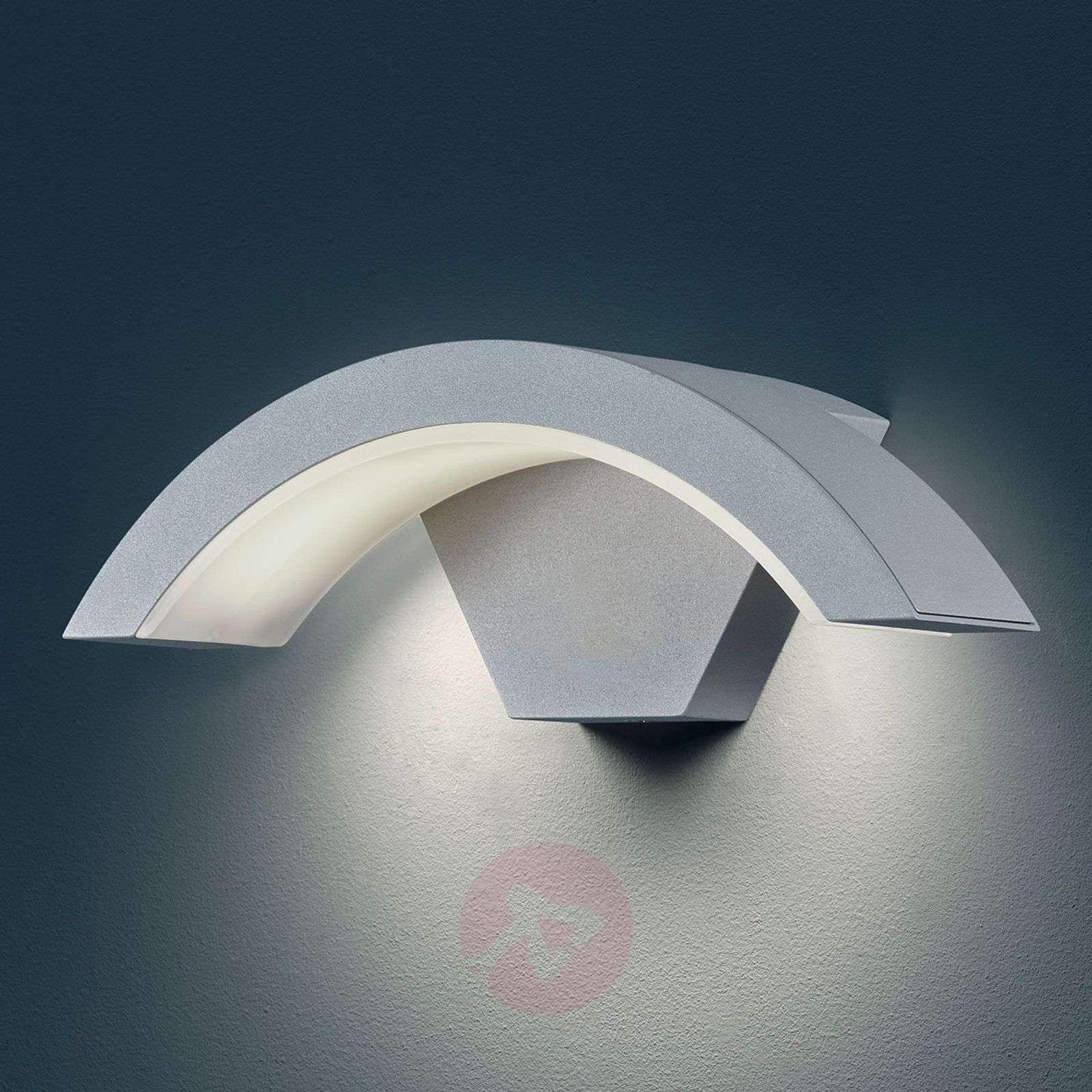 Ohio LED outdoor wall light, titanium colour-9004663-01