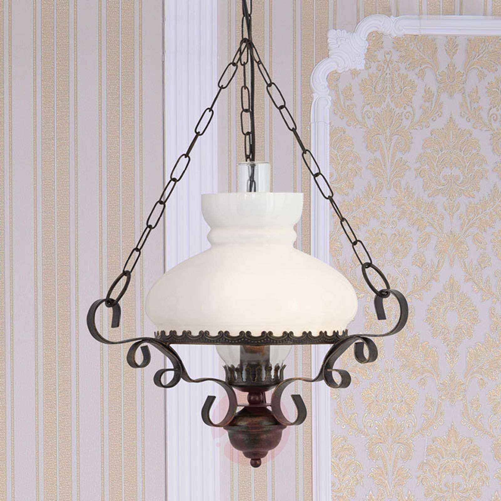 Oil lantern hanging lamp with antique charm 8570145 02