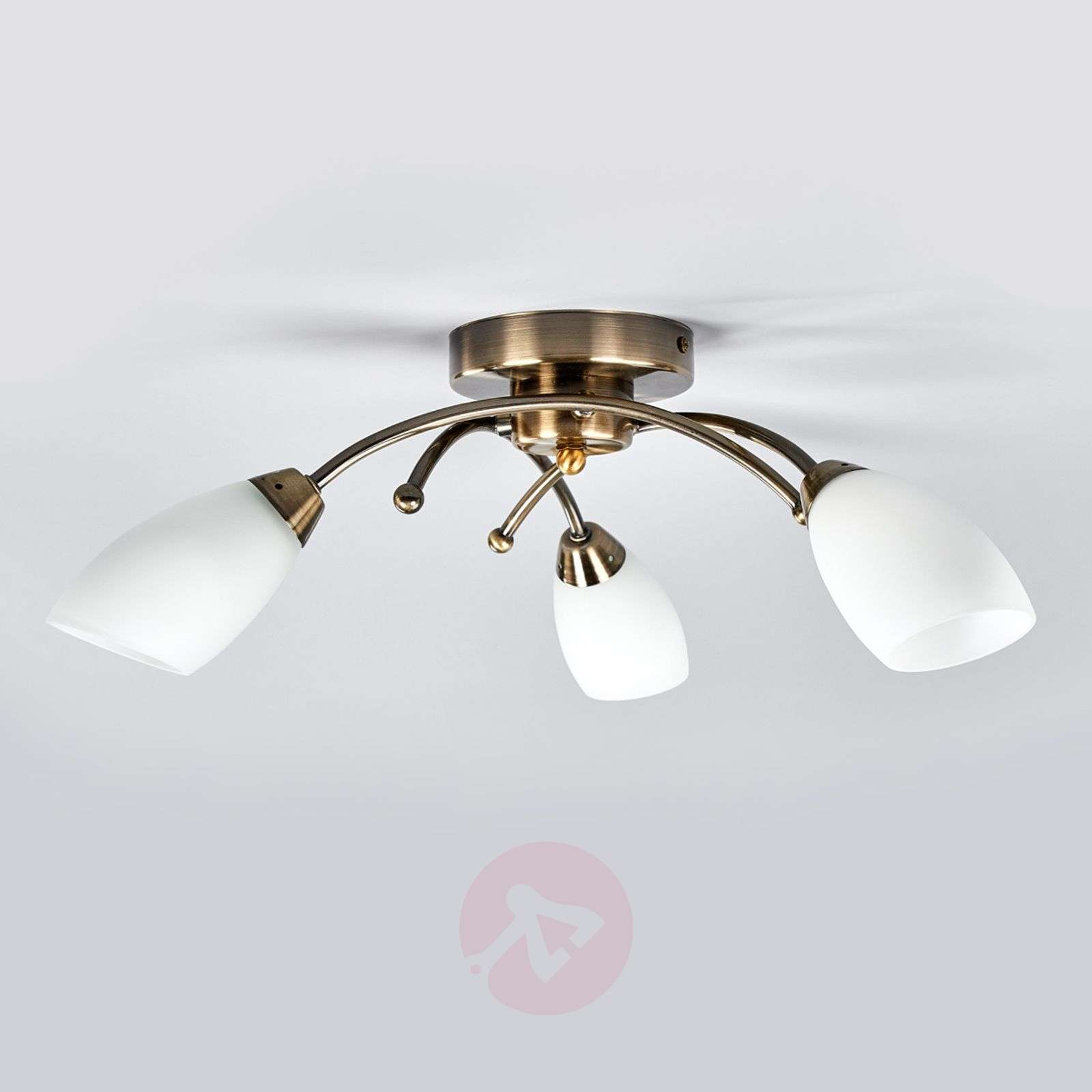 Opera 3-bulb ceiling light, antique brass-8570068-03