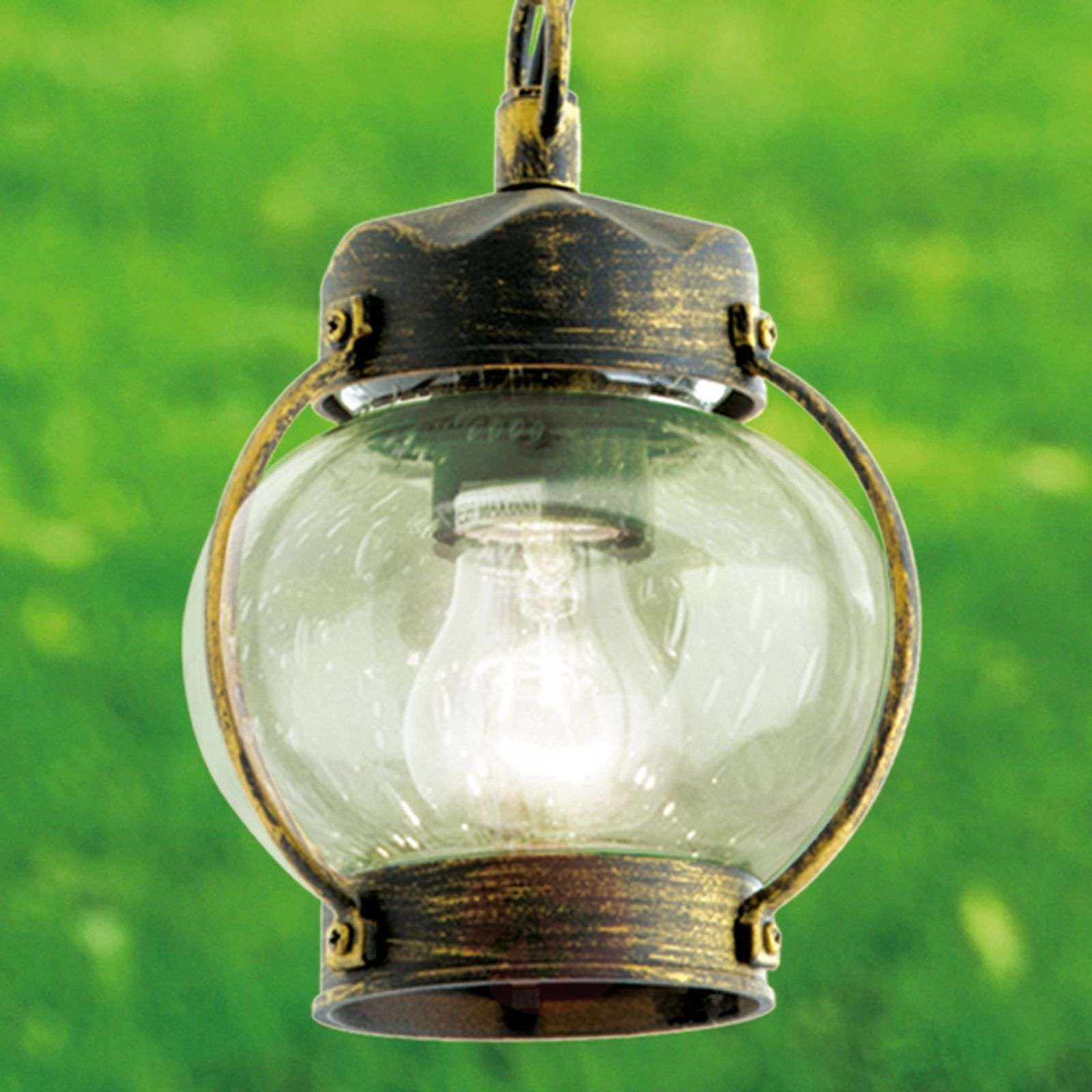 Outdoor hanging lamp Marguerite with bubble glass-7255095-01