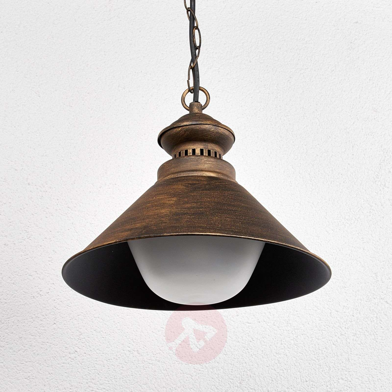 Outdoor hanging lamp Millane, black-gold-9630047-01
