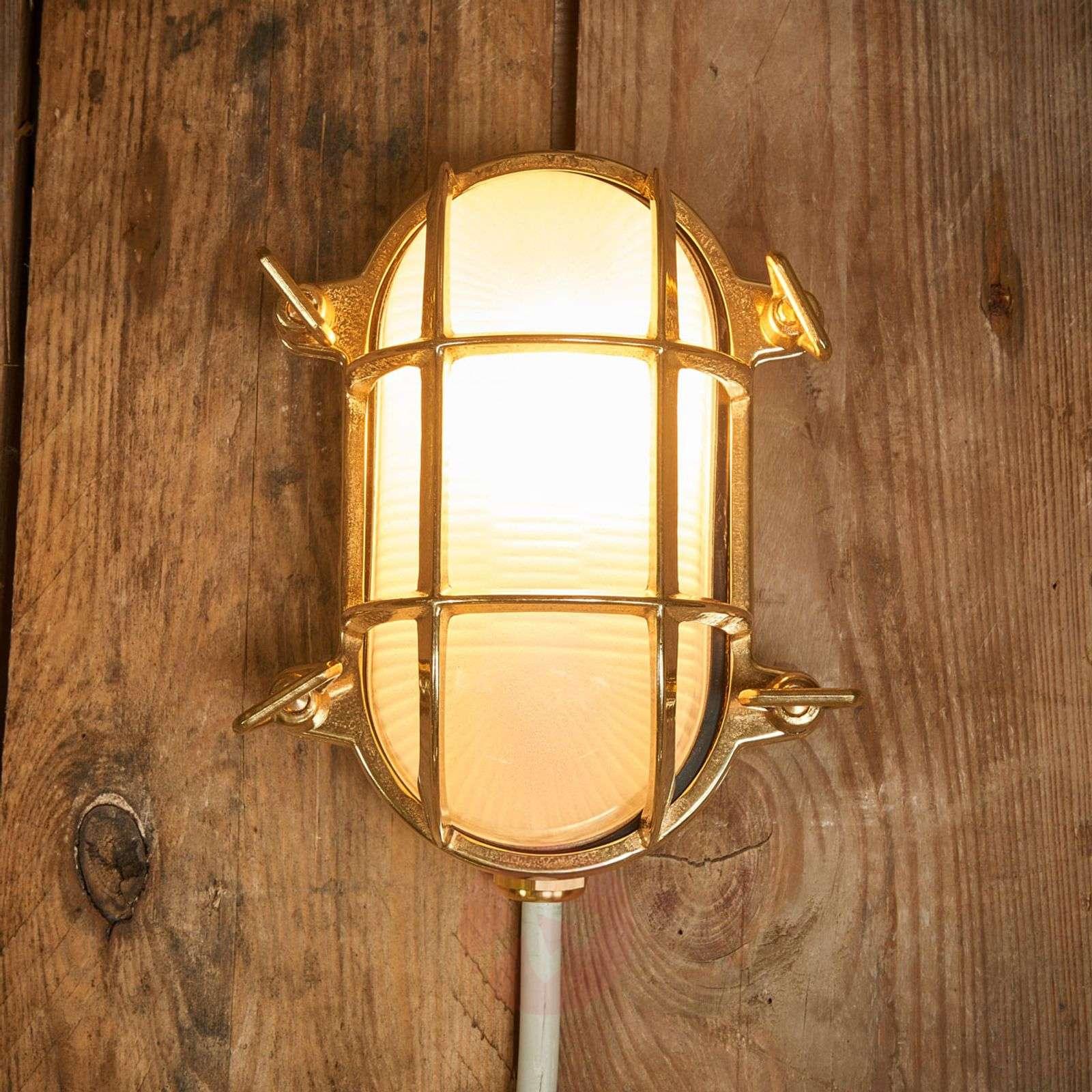 Oval outdoor wall light Bengt brass-6515264-01