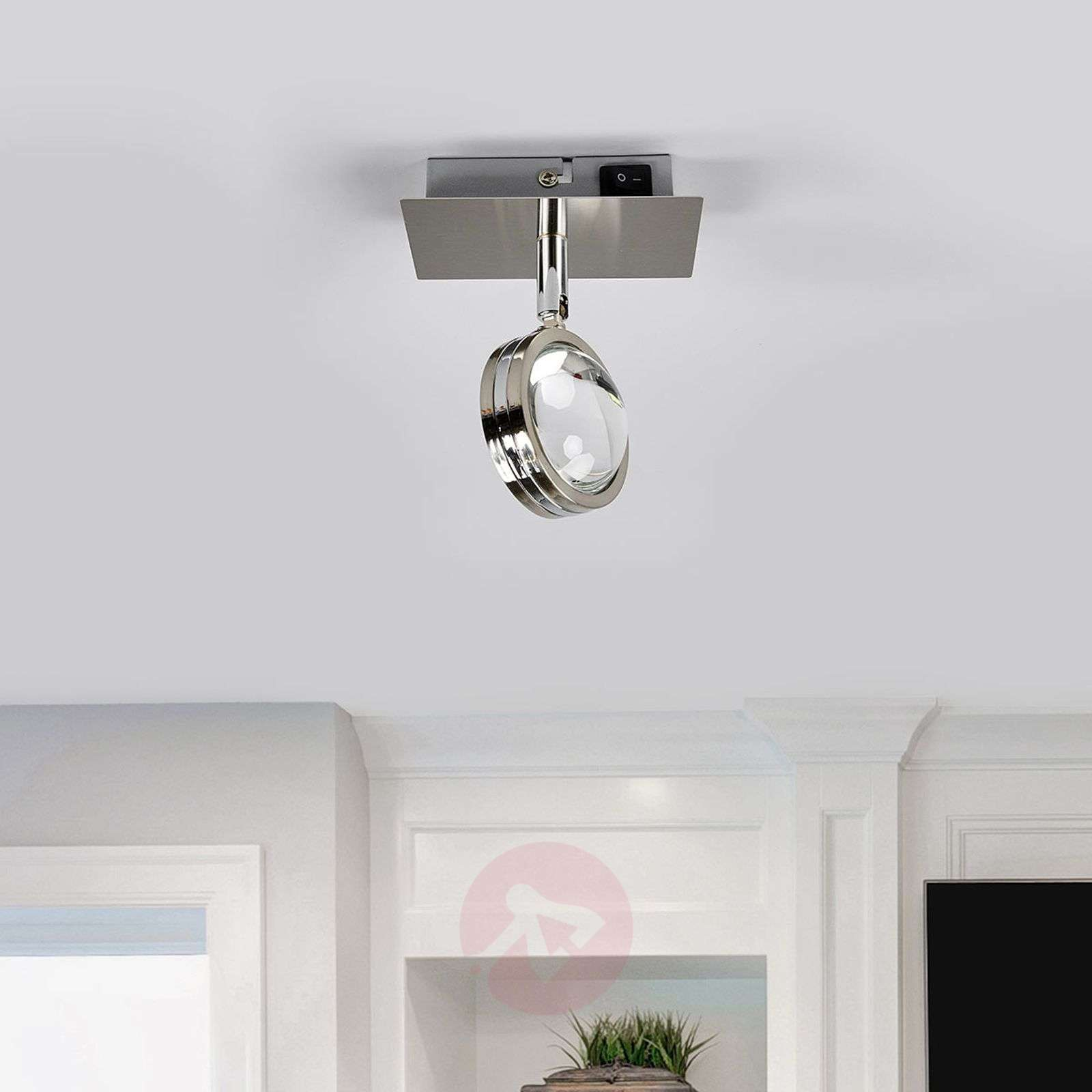 Pablos LED wall lamp with a glass lens-9994123-014