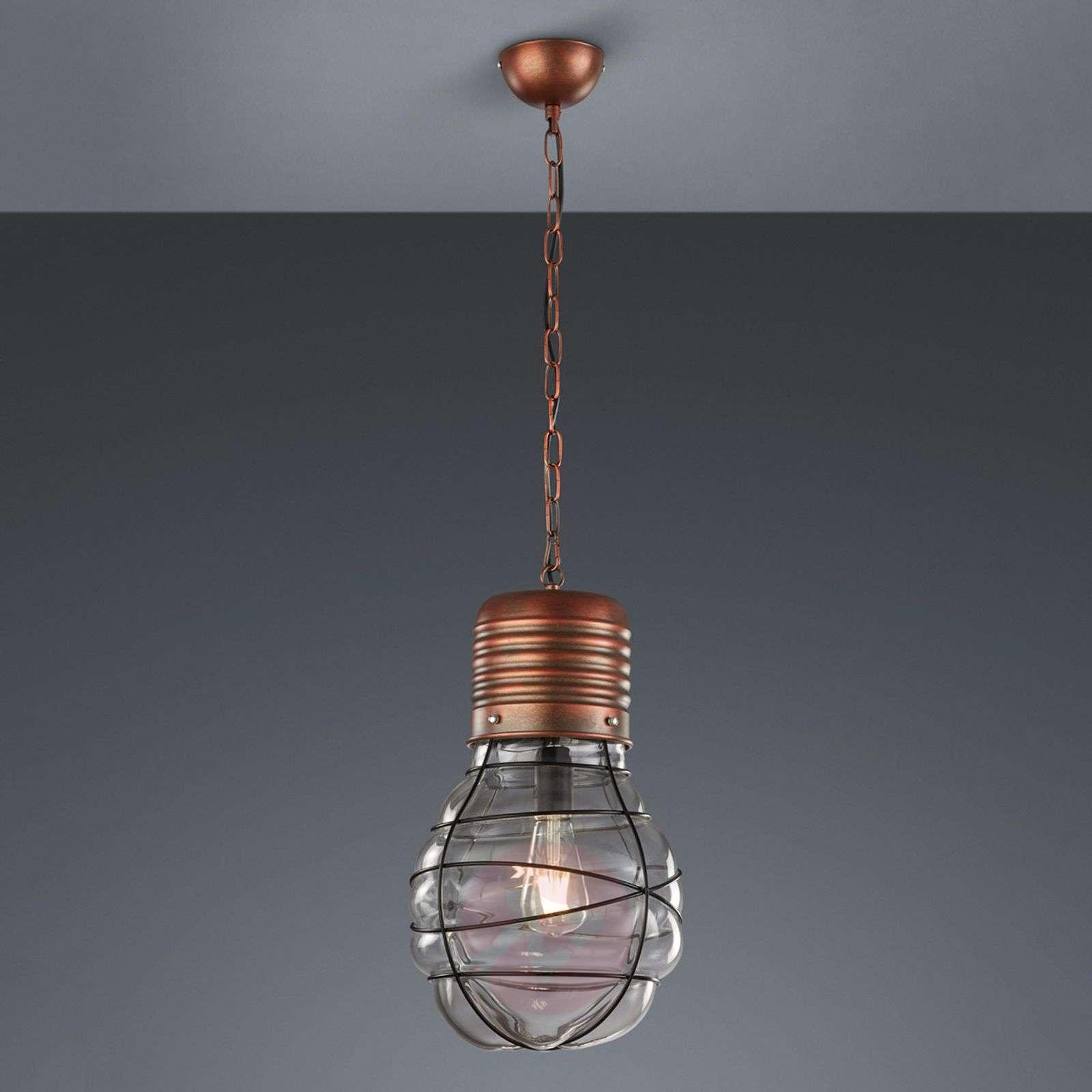 Pendant lamp Edda Antique copper-9005303-01