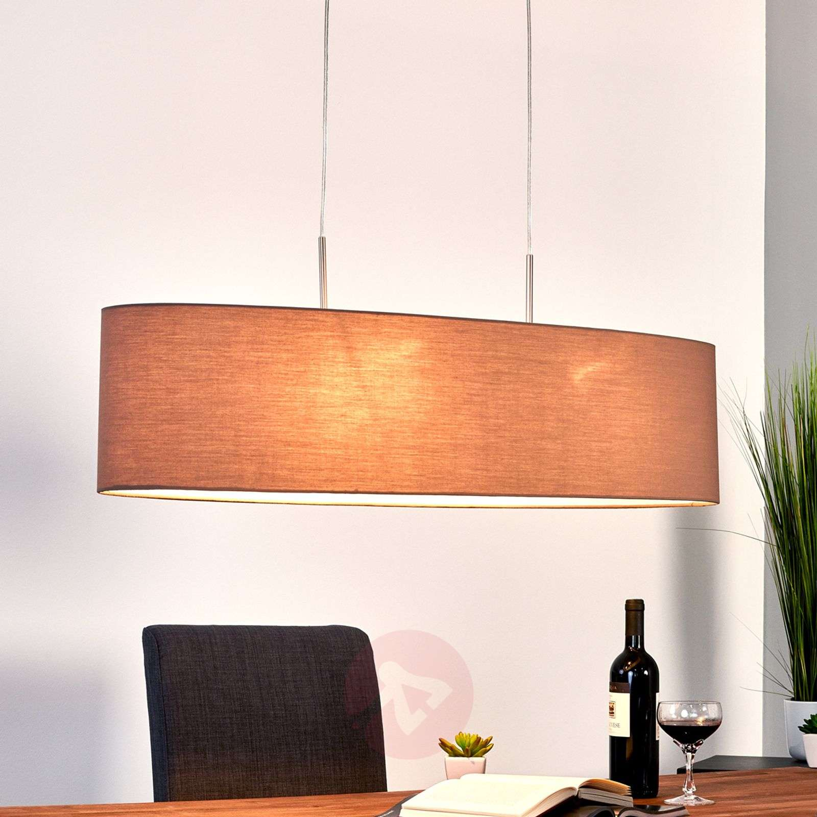 Pendant lamp Finn with shade in cappuccino-4580695-03