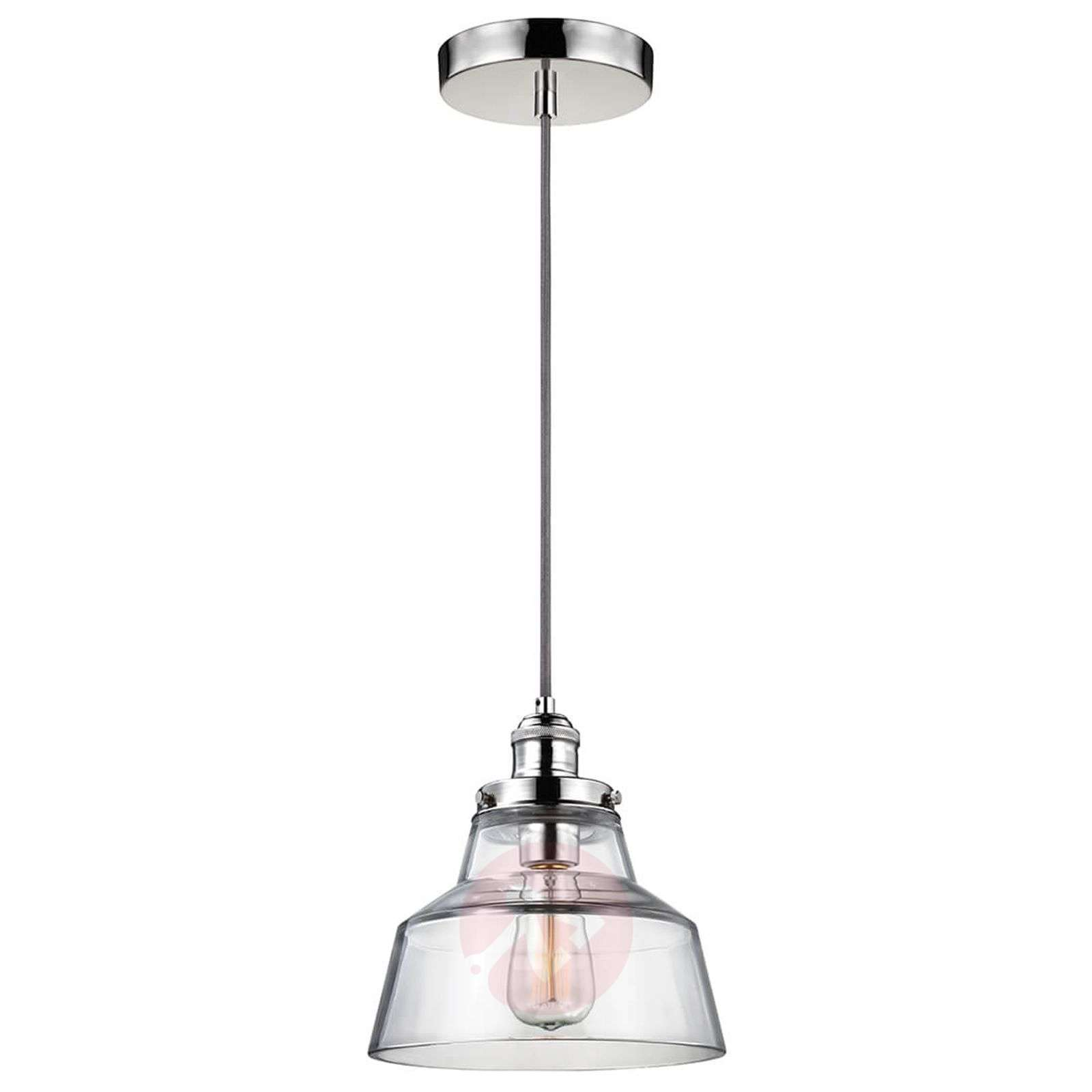 Pendant light Baskin A polished nickel suspension-3048801-01