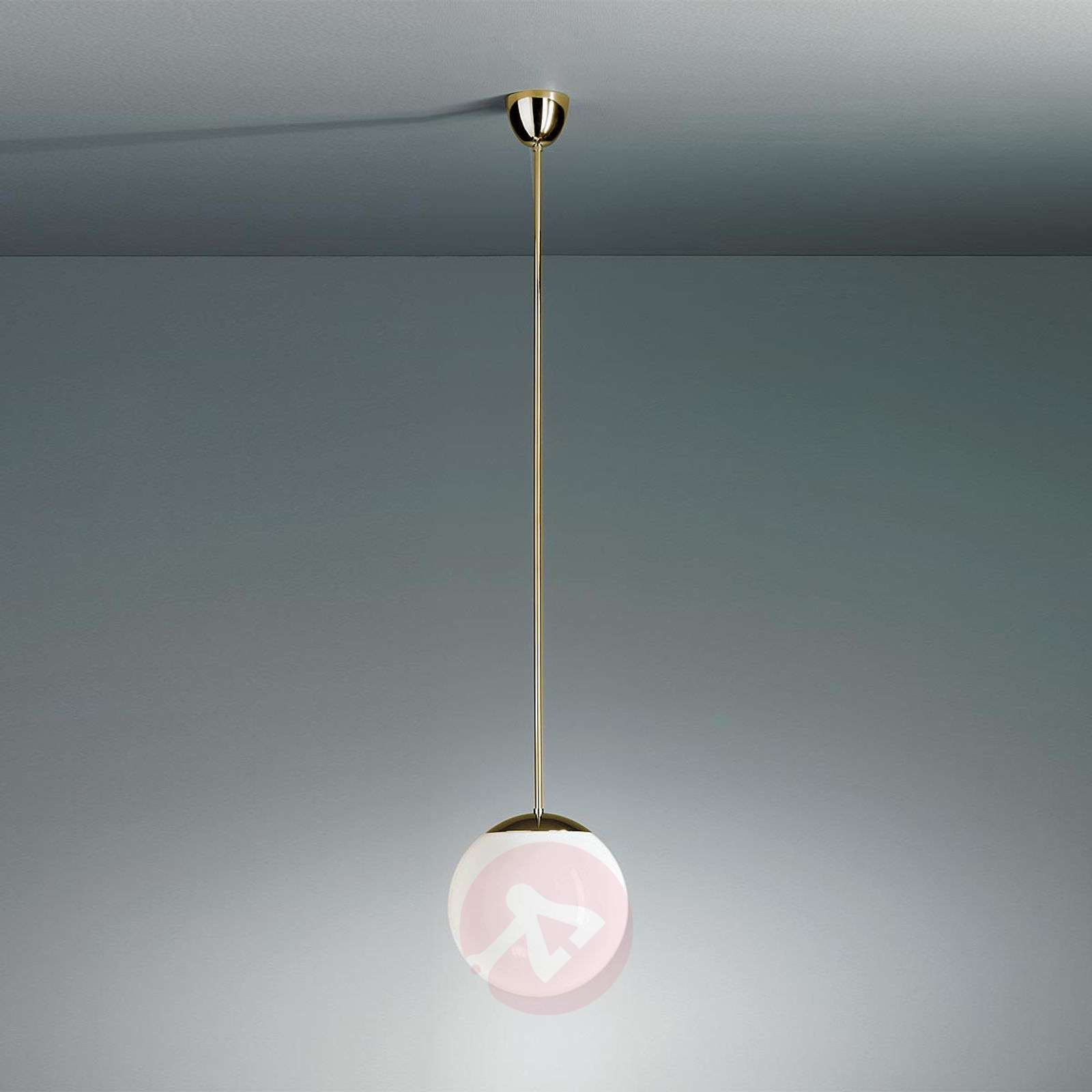 Pendant light with opal sphere-9030103X-01
