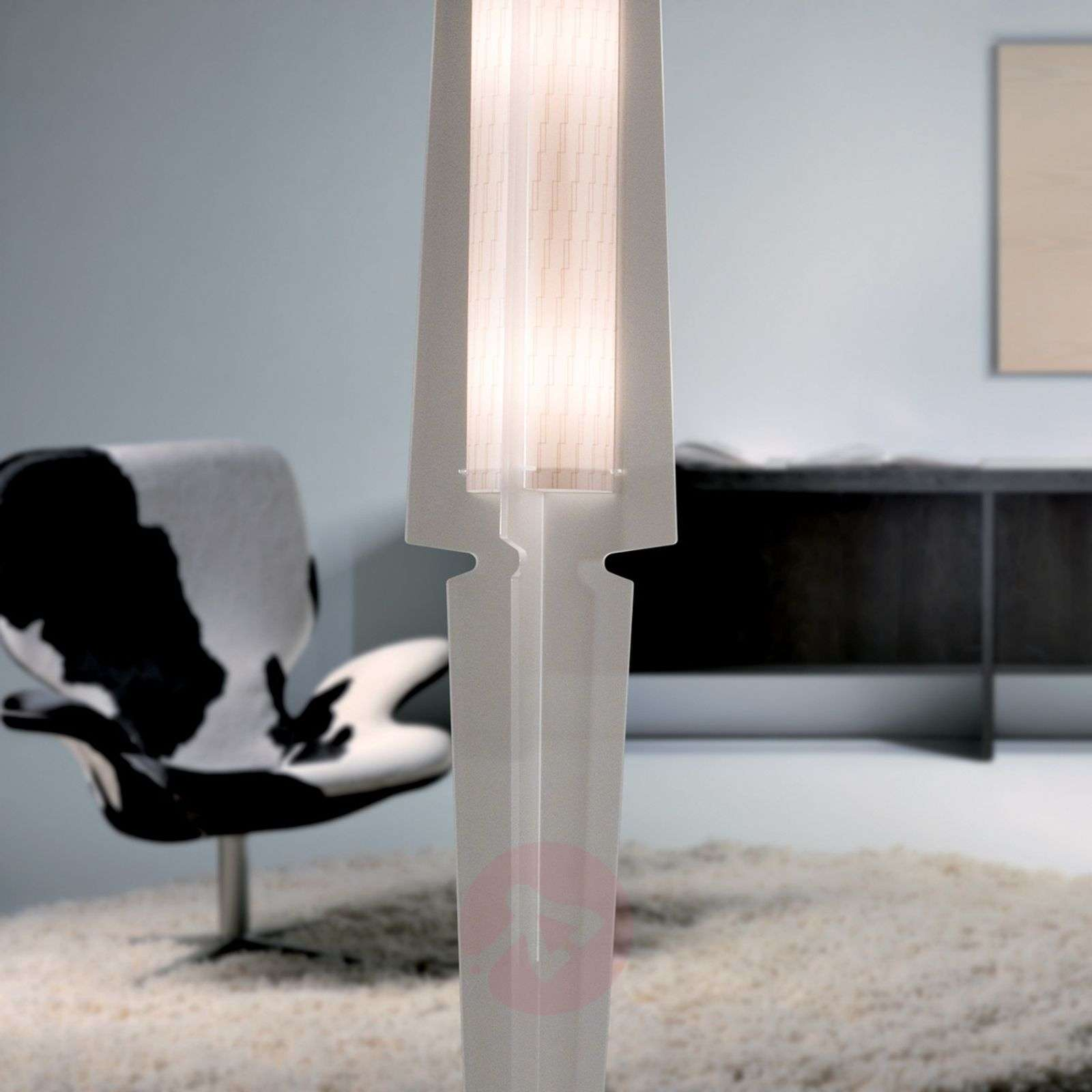 Perfectly designed floor lamp Dea, satin white-1056004-01