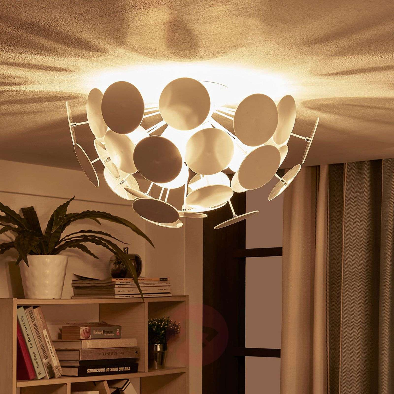 Perfectly shaped ceiling light Kinan in white-9621166-08