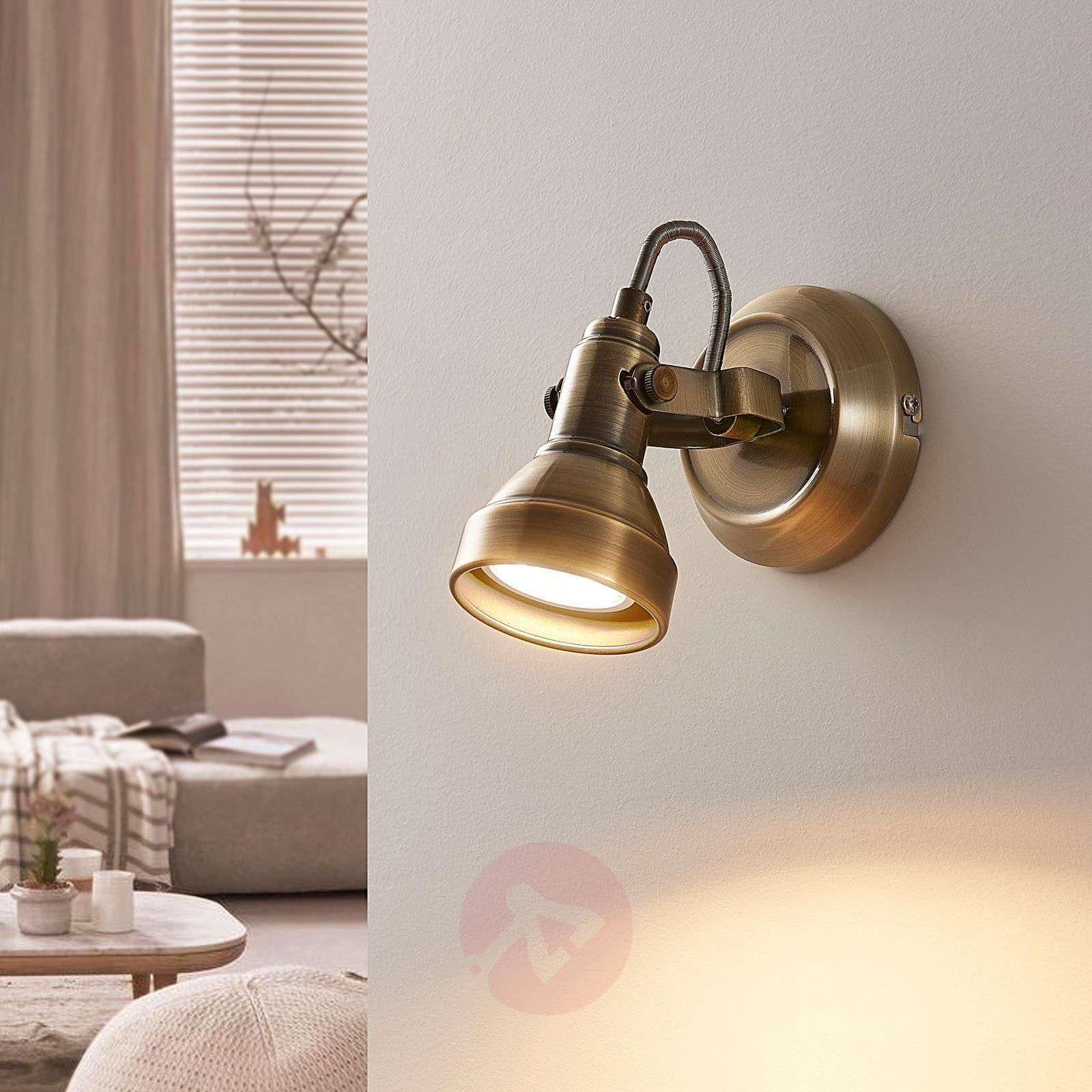 Perseas led wall spotlight antique brass lights perseas led wall spotlight antique brass 9620243 01 aloadofball Images