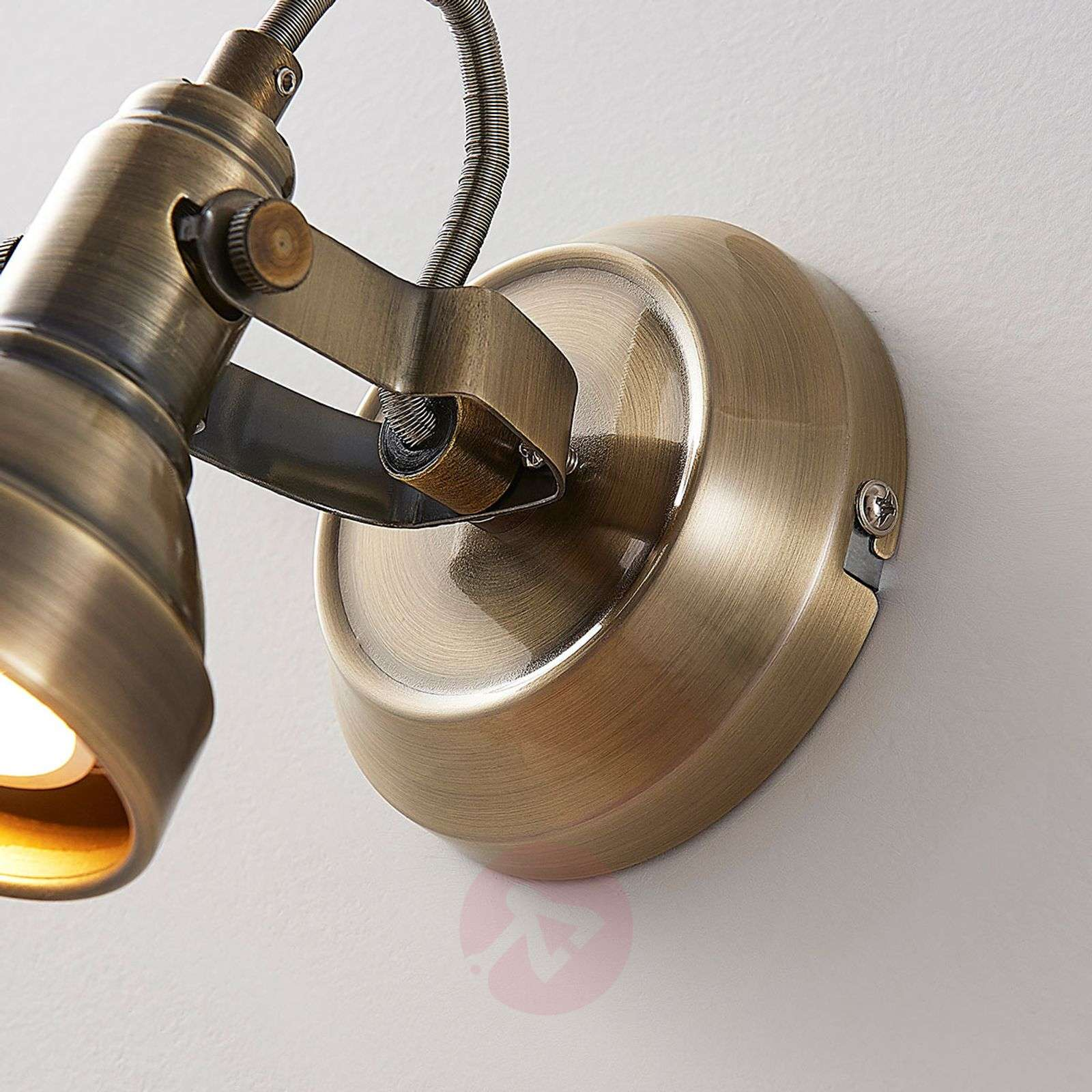 Perseas LED wall spotlight, antique brass-9620243-01
