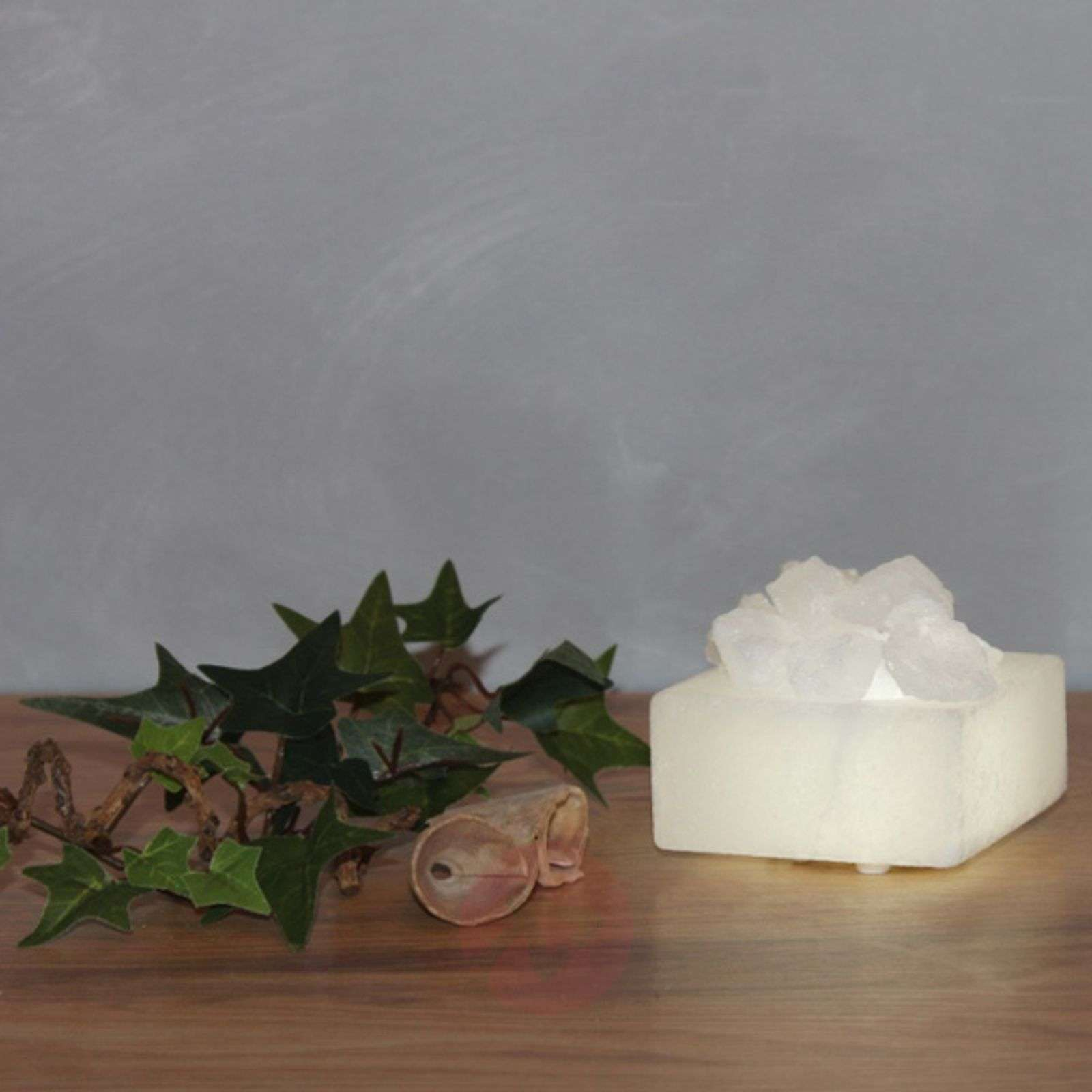 Petite small LED salt crystal bowl-9608058-01