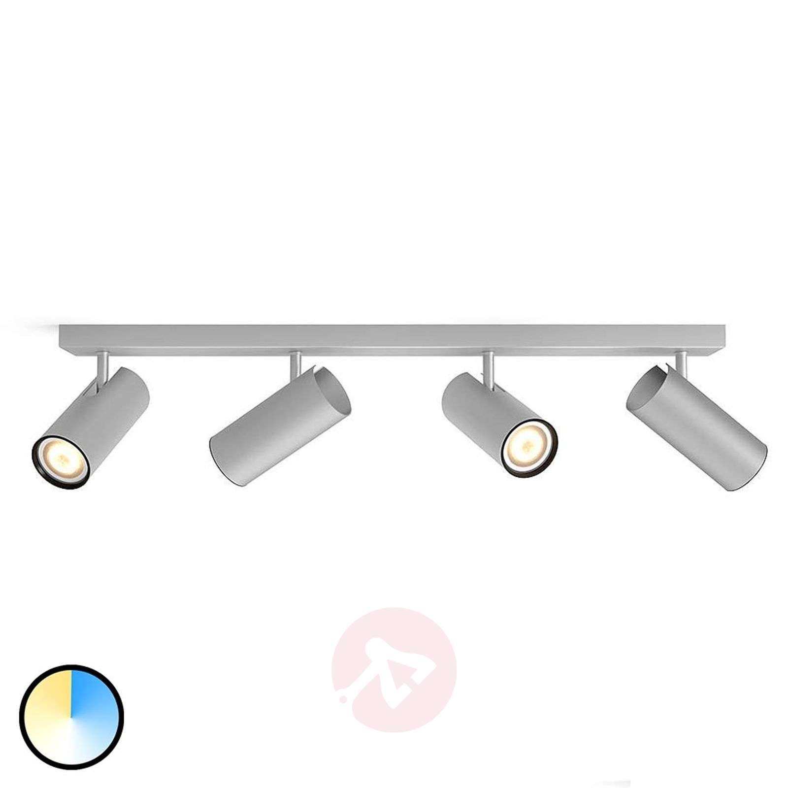 Philips Hue Buratto LED spot, alu,4-bulb, dimmer-7532045-01