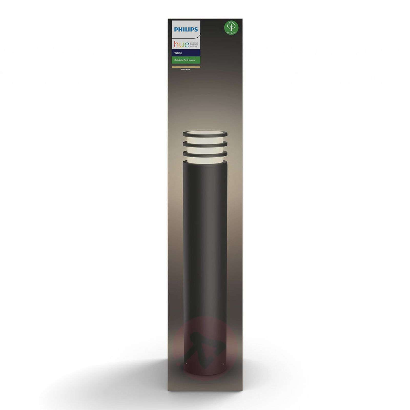 Philips Hue Lucca LED bollard light, anthracite-7534050-01