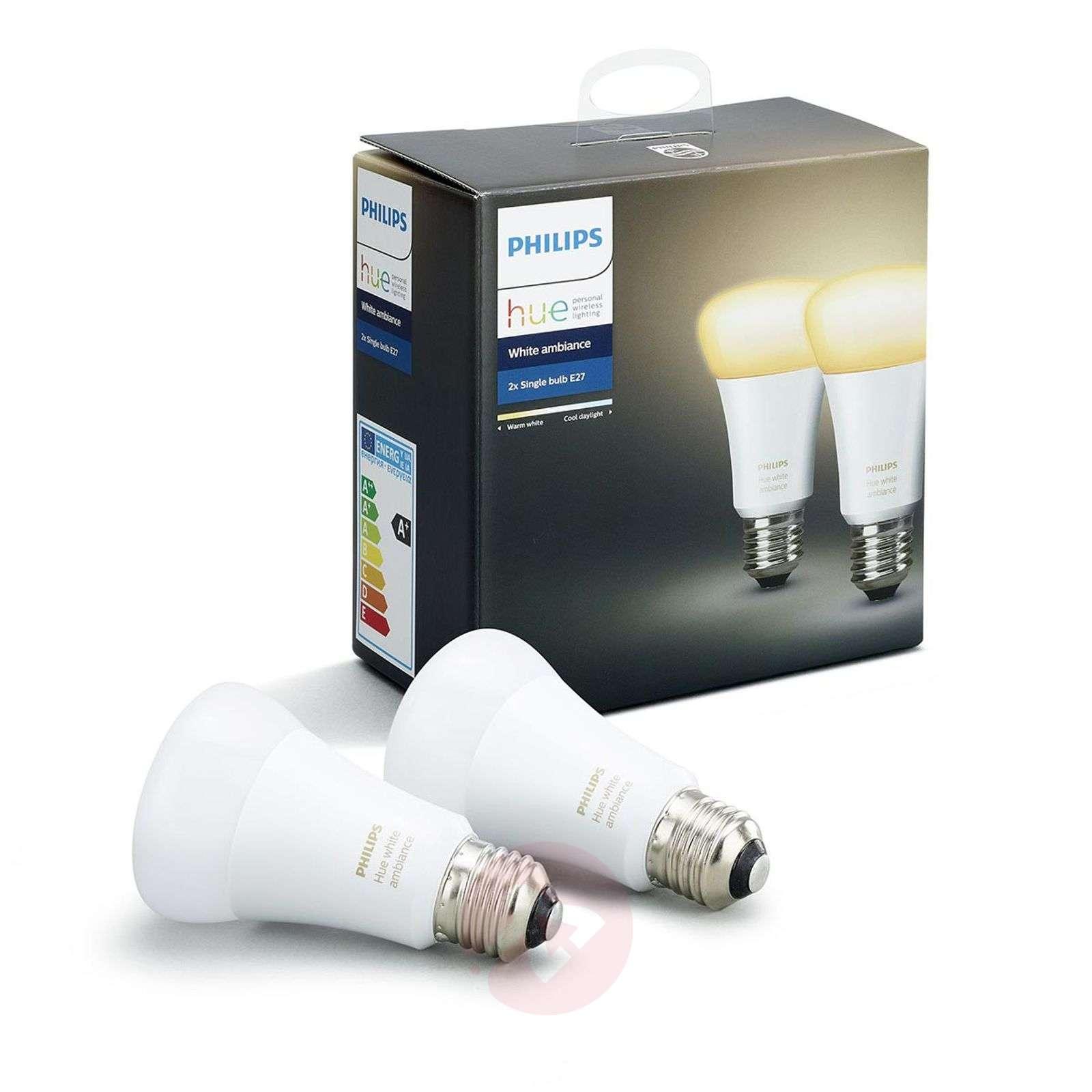 Philips Hue White Ambiance 2 x 9.5W E27-7532036-01