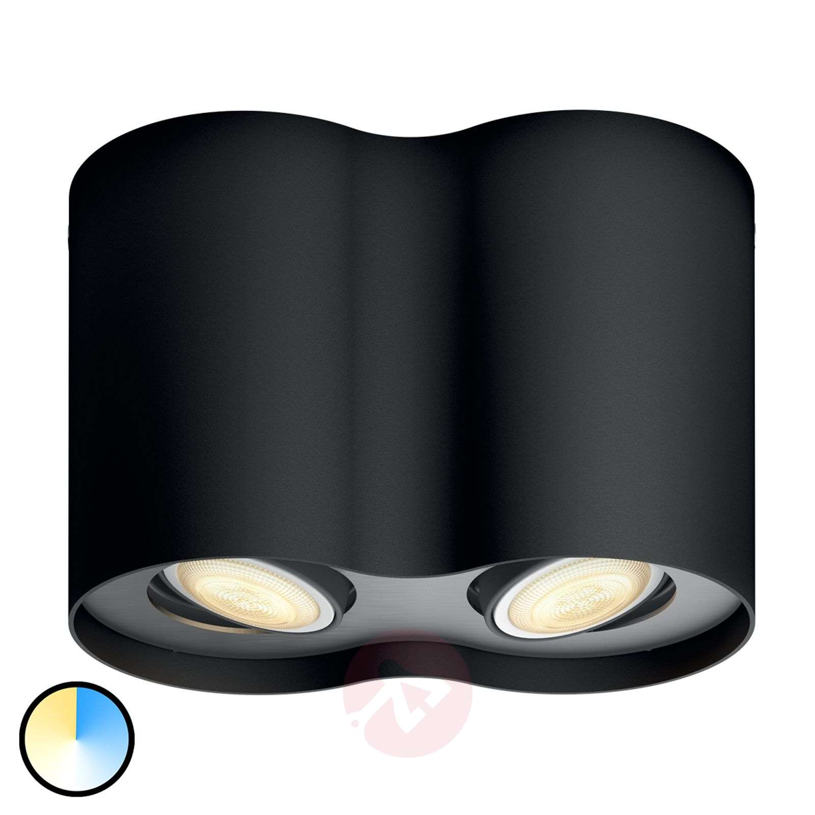 Philips Hue White Ambiance Pillar two-bulb black-7531882-01