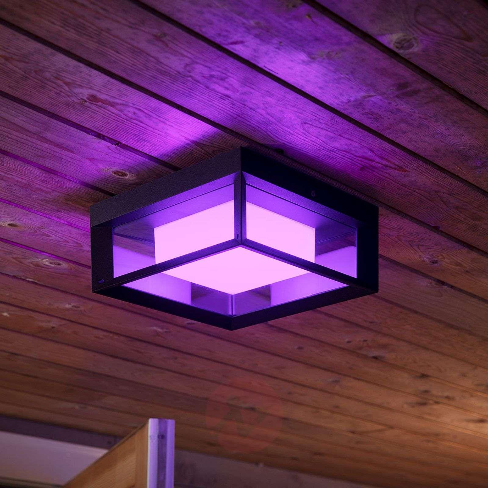 Philips Hue White+Color Econic wall light, angular-7534116-02