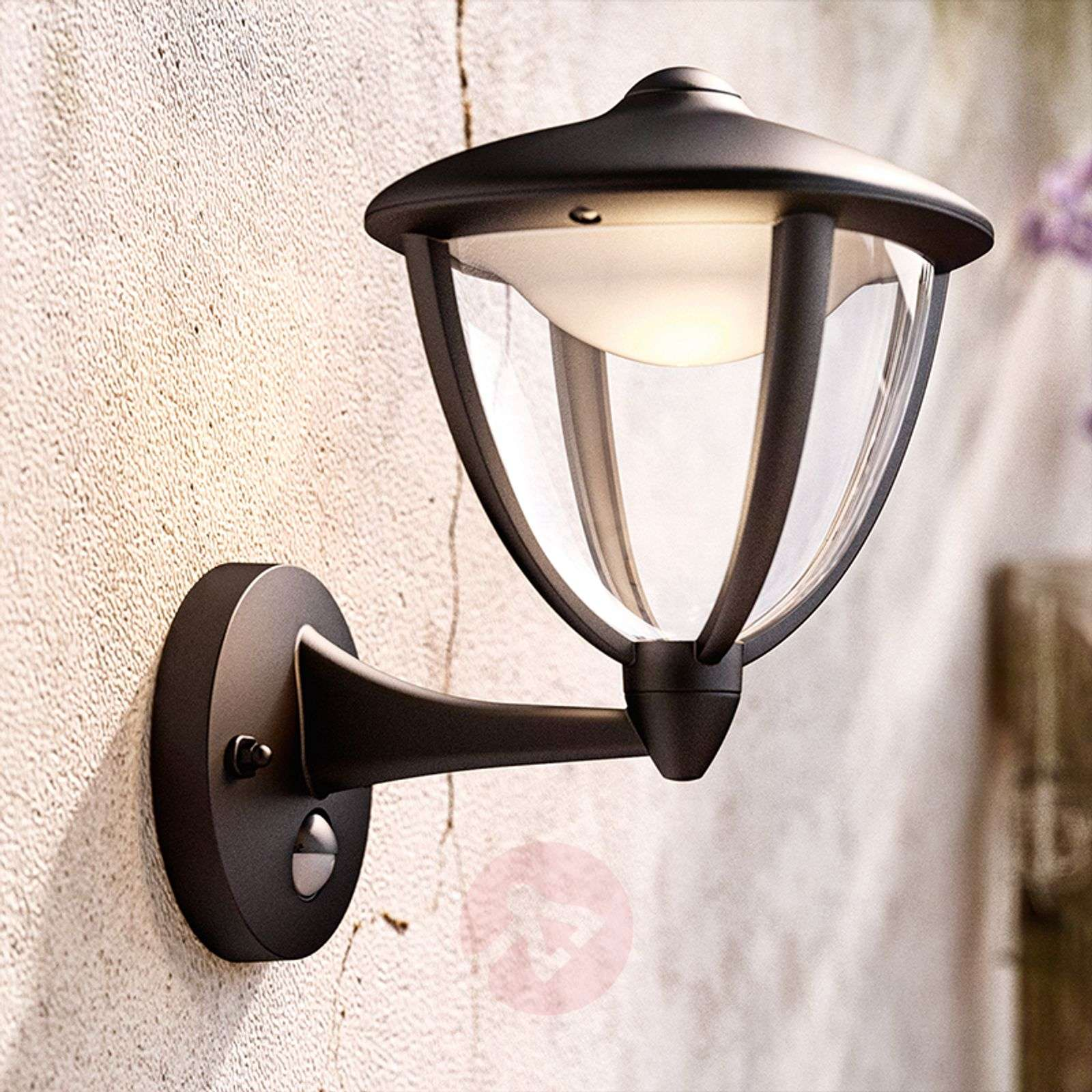 Philips Robin LED outdoor wall light black, up-7531779-01
