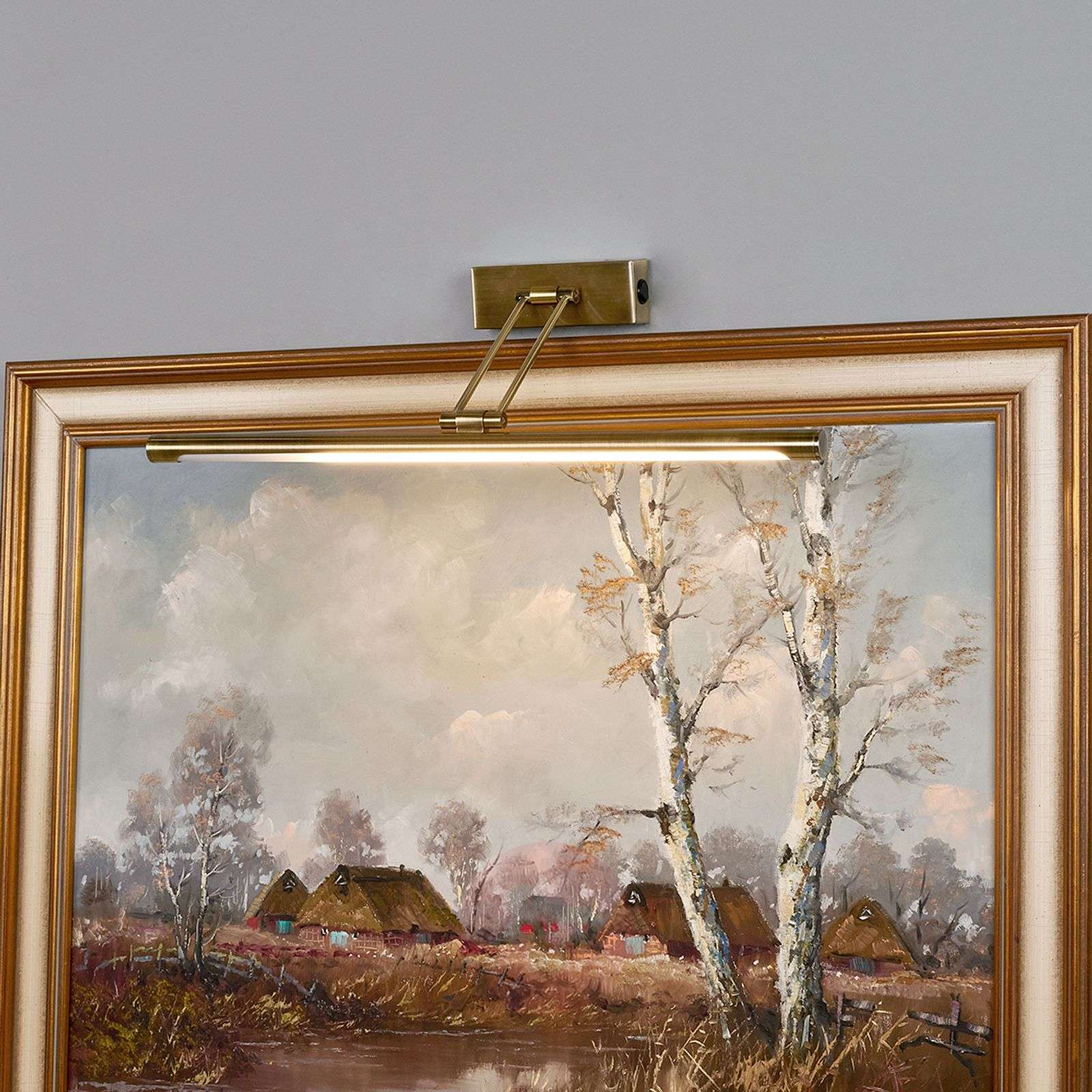 Picture light Merte with LEDs in antique brass-9644045-01