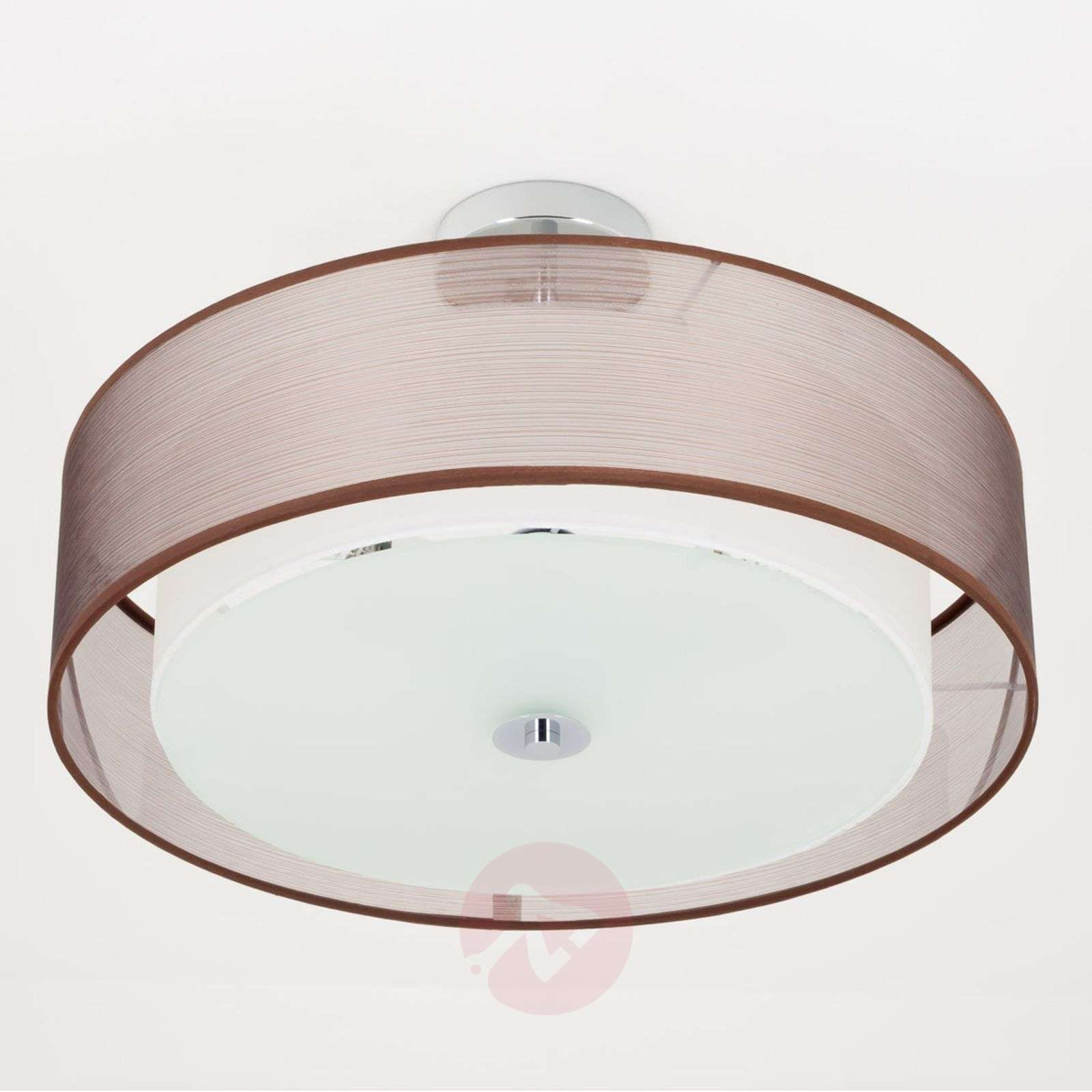 Pikka LED ceiling light with a brown lampshade-9620152-01