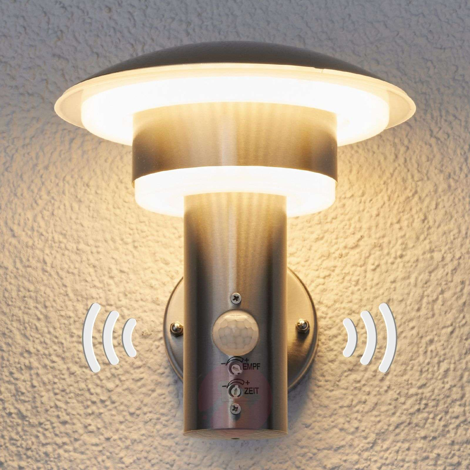 PIR outdoor wall light Lillie with LEDs-9988018-01