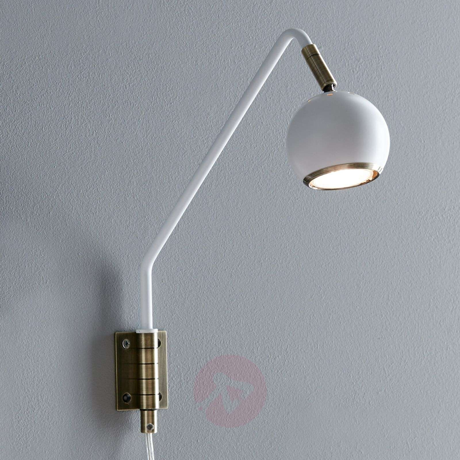Pivotable Coco wall light, white-6506152-01